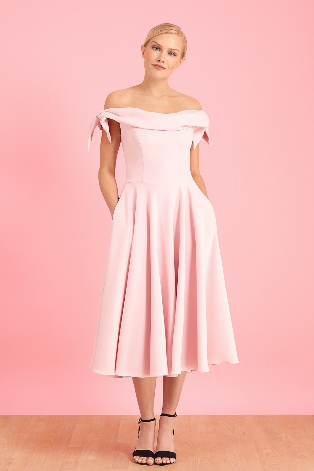 Tilly Prom Dress in Pale Pink PDCDRTILPROPPINK
