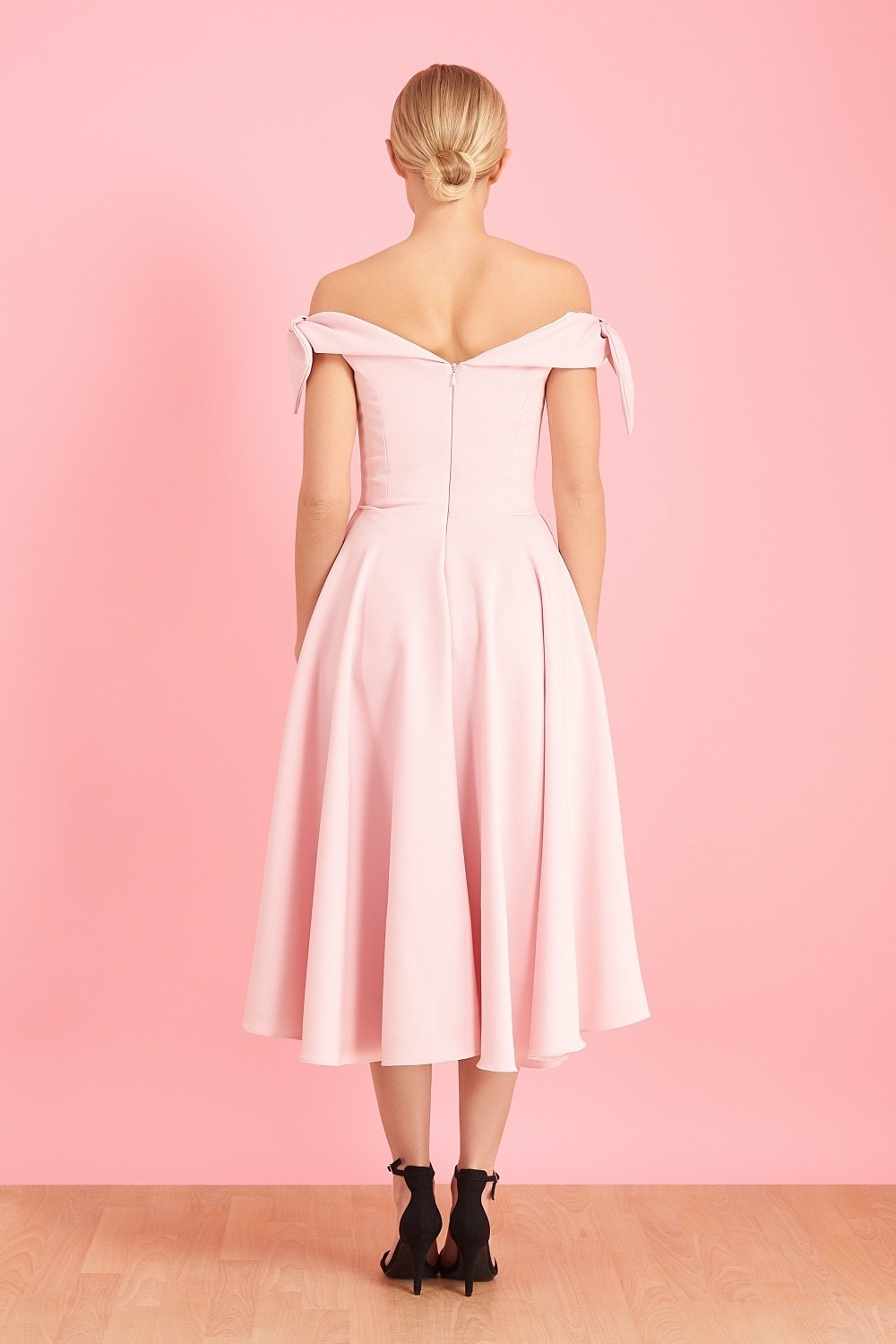 Tilly Prom Dress in Pale Pink
