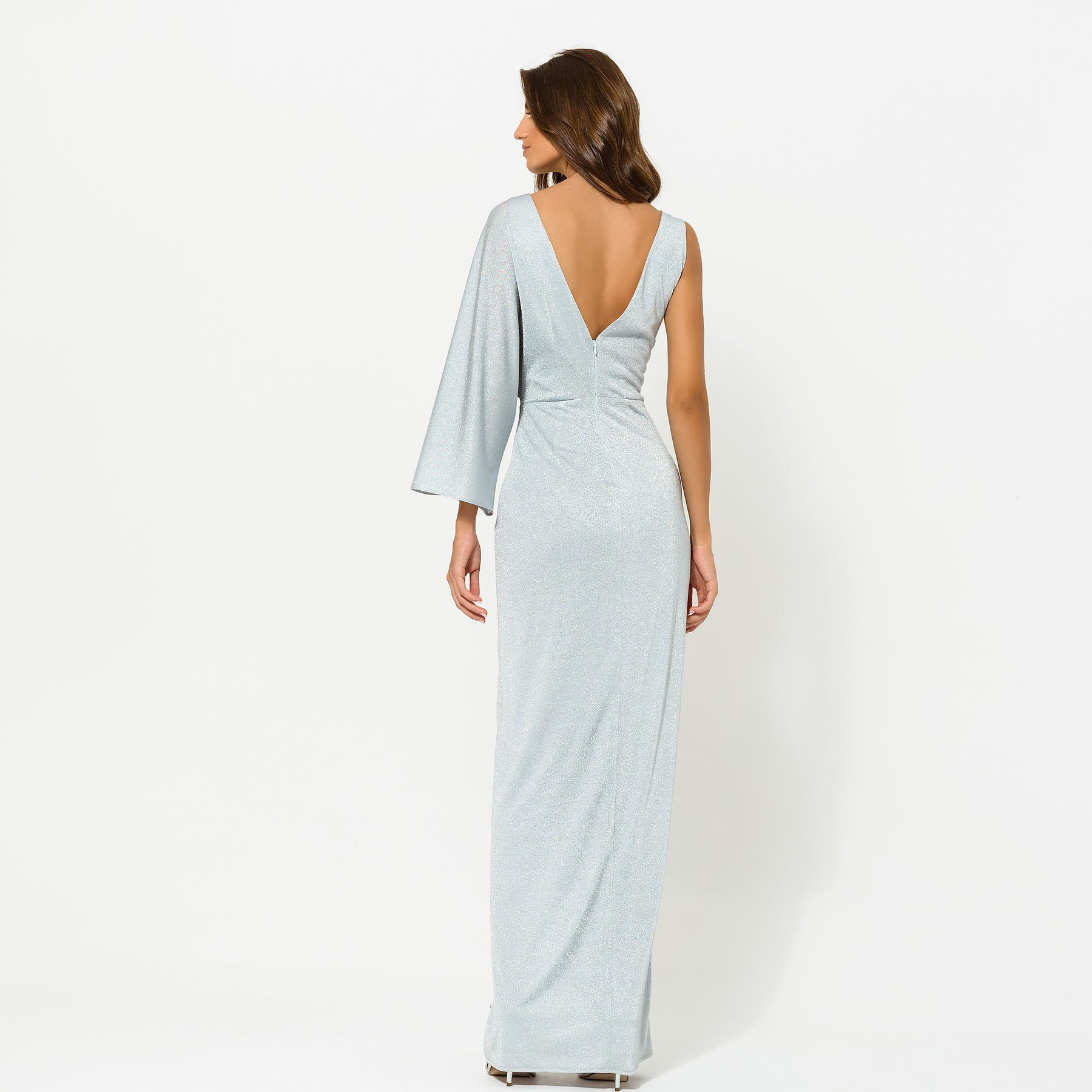 Glitter Maxi with one Sleeve