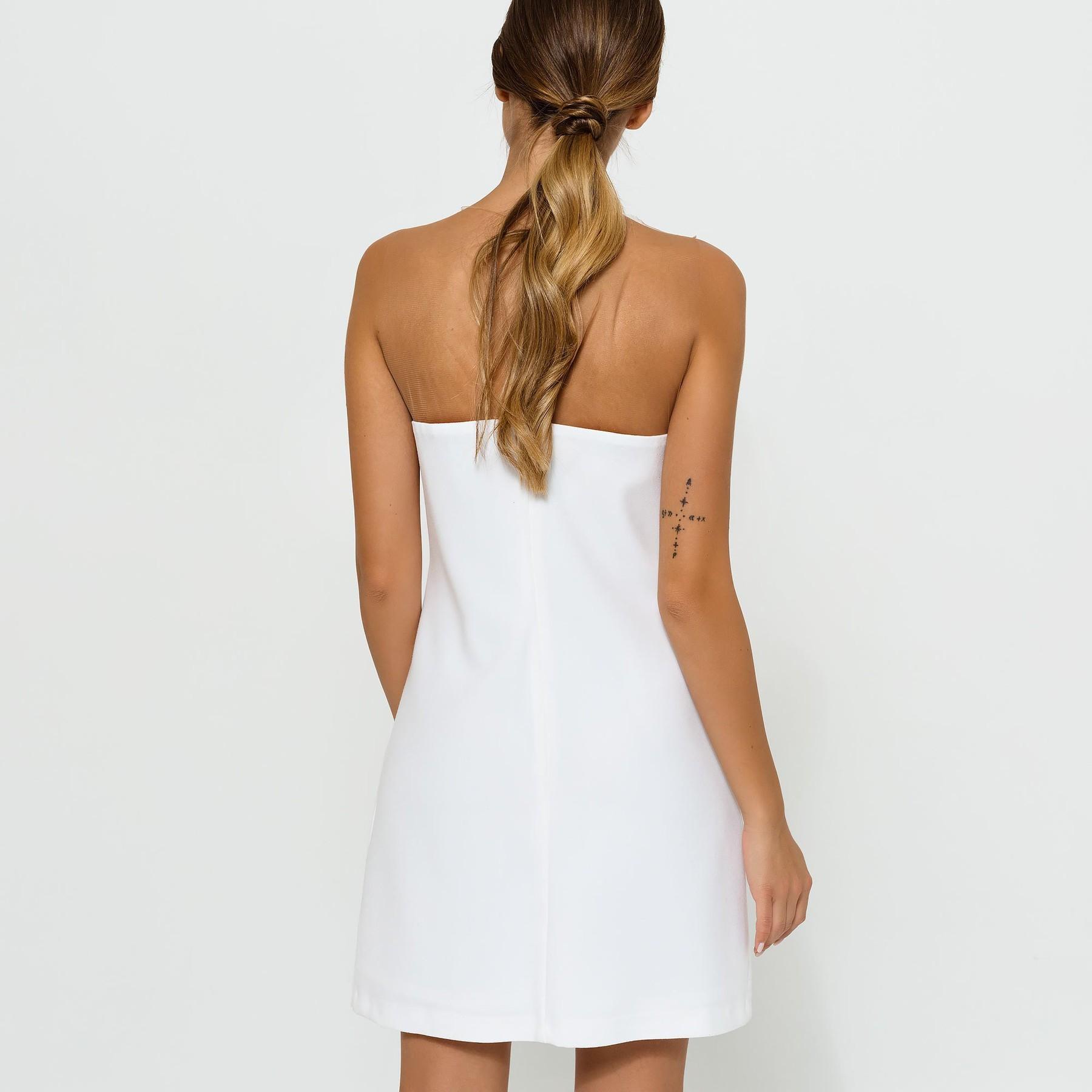 Ivory Dress with Glitter Stripes
