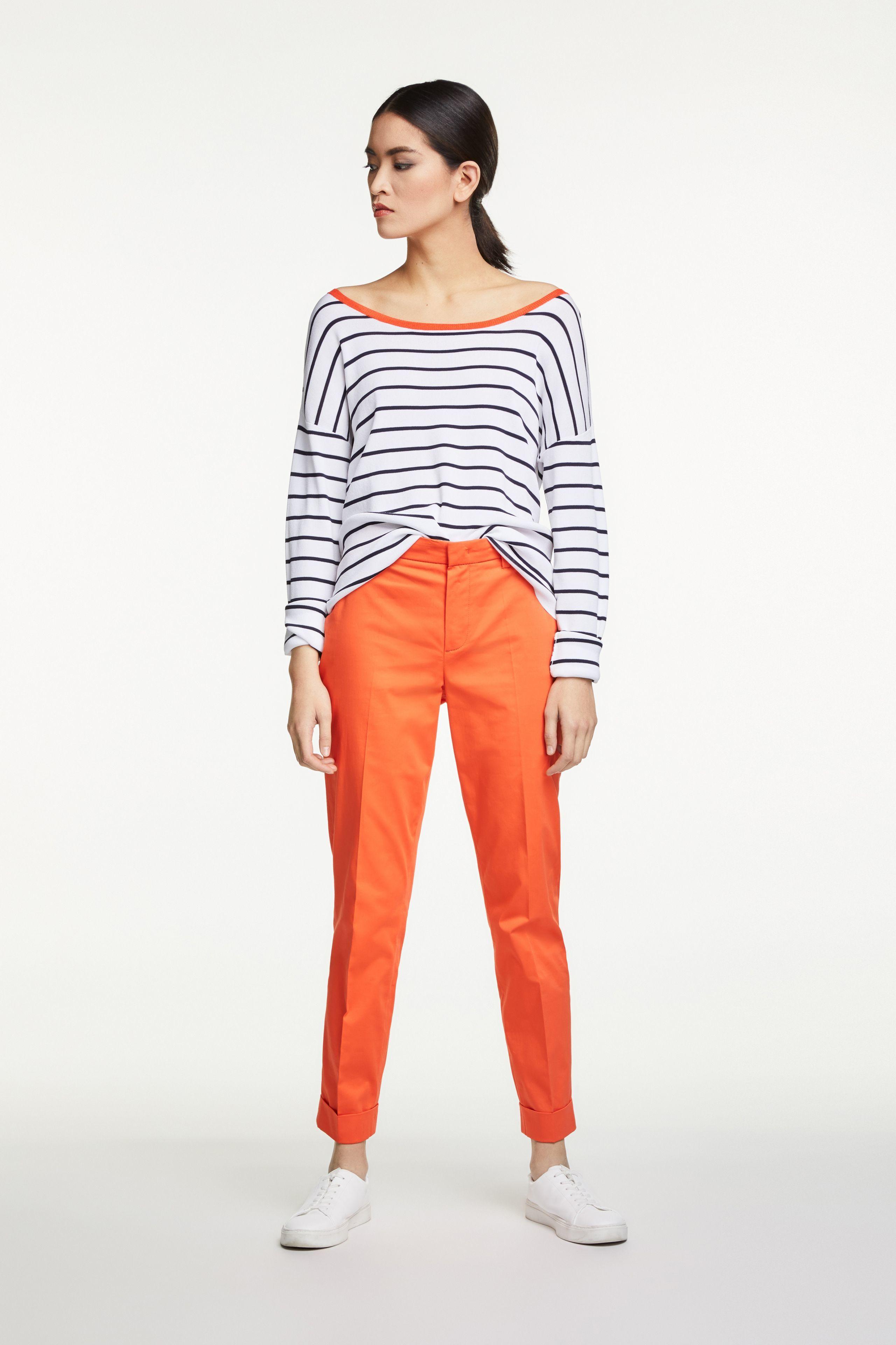 Pencil Trousers Orange OUTR65361