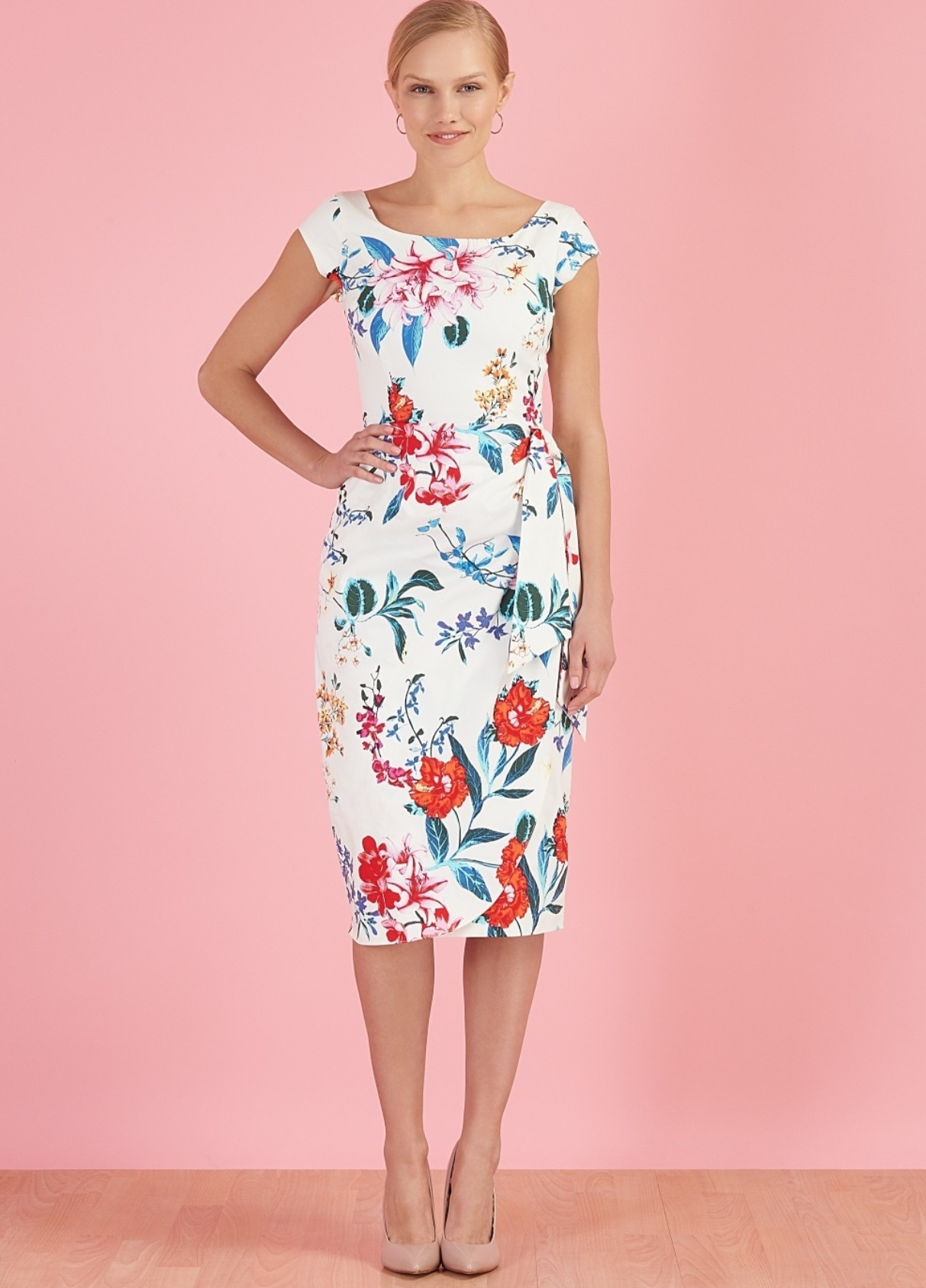 Jayne Dress in Hibiscus Print PDCJAYNE