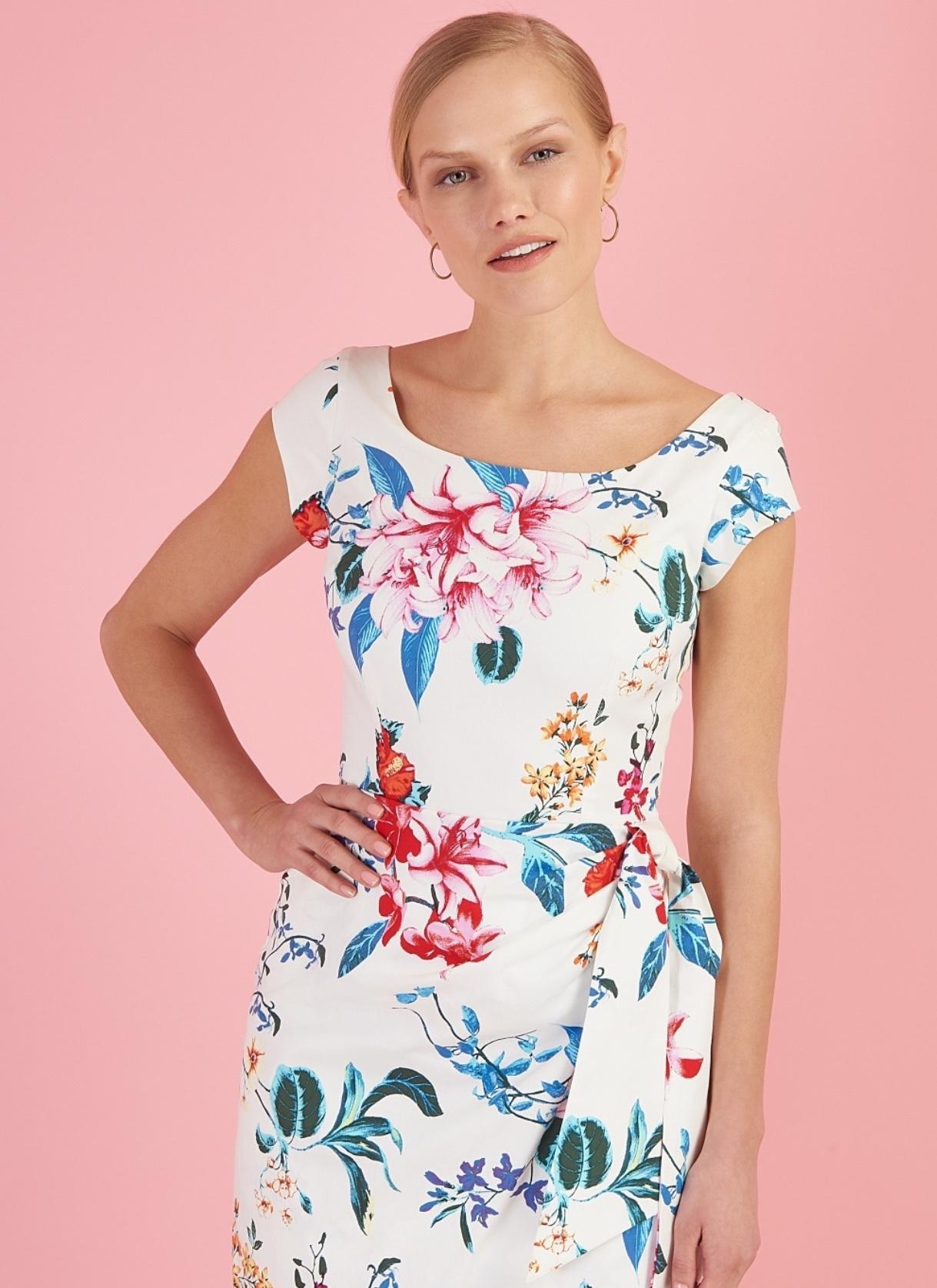 Jayne Dress in Hibiscus Print