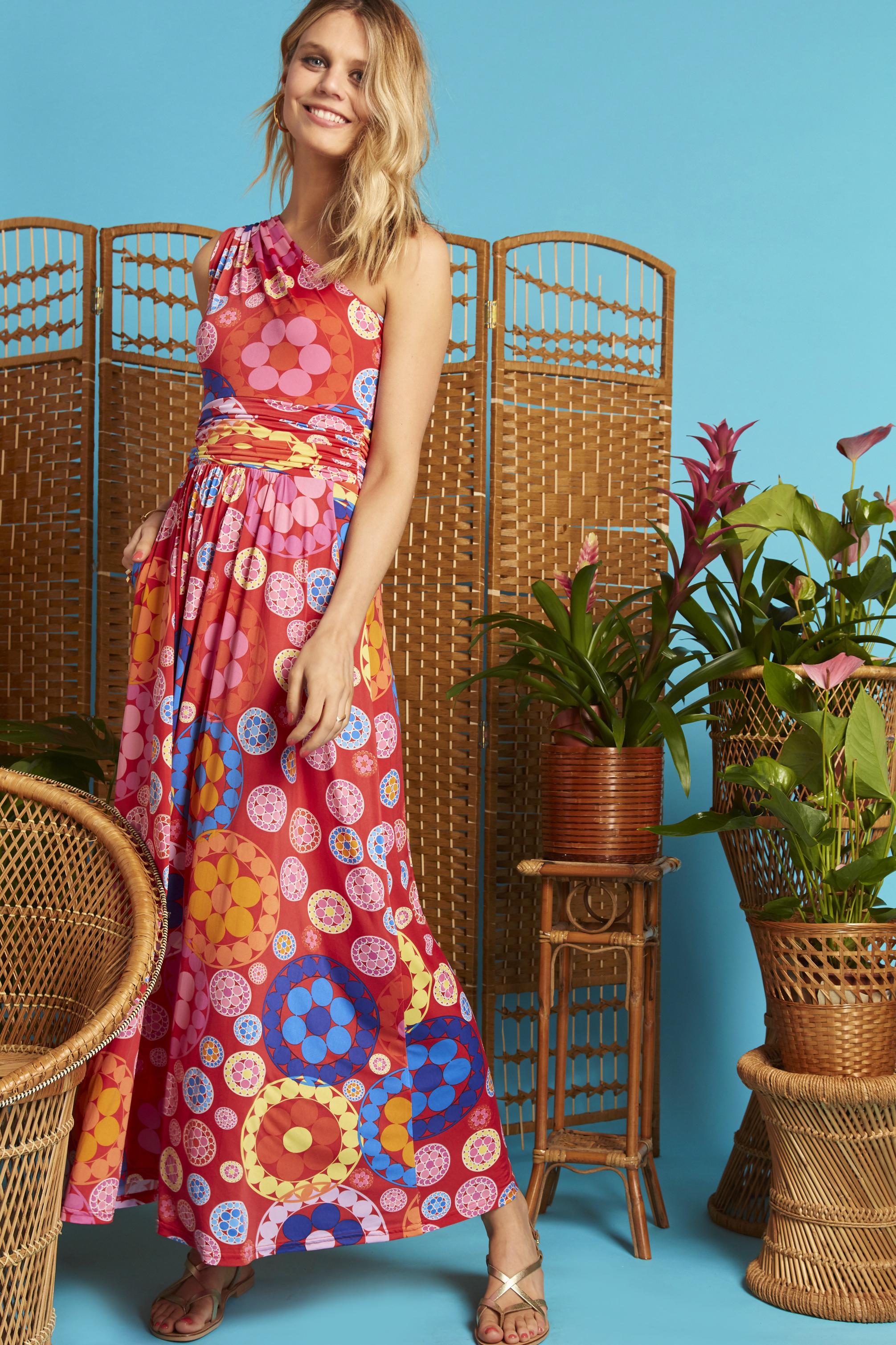 Rosa One Shoulder Dress in Daisy Print ONJDRESSROSADAISEY