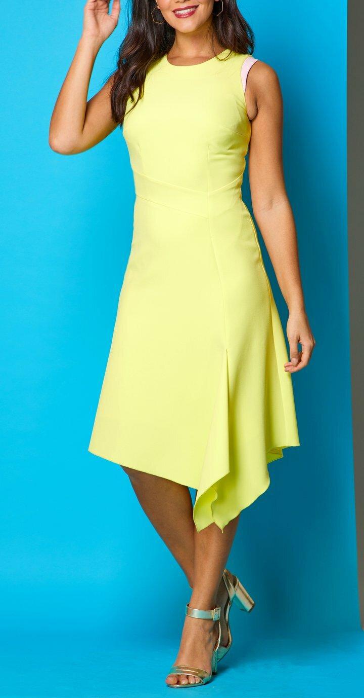 Adelle Dress in Lemon MELLARISADELLELEMON