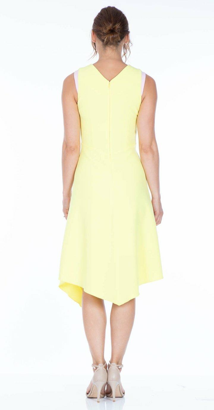 Adelle Dress in Lemon
