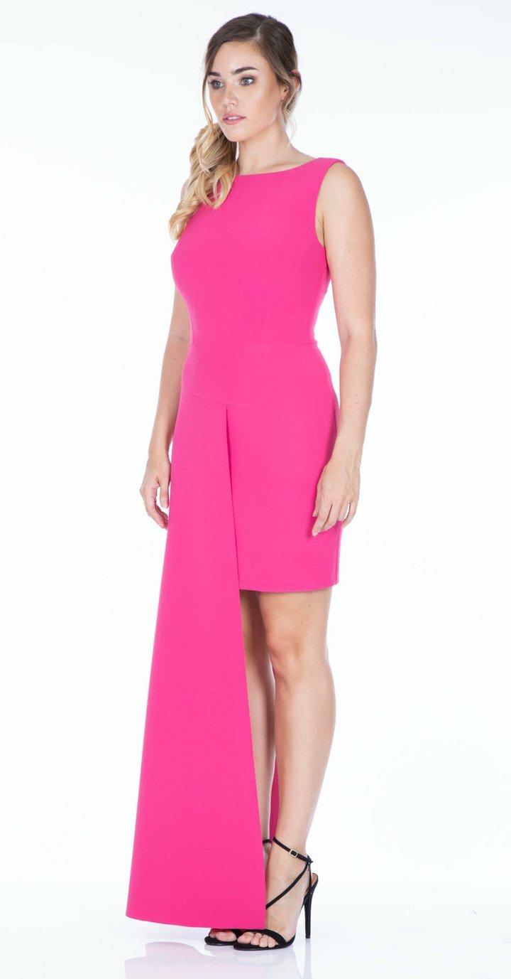 Livia Dress in Fuchsia