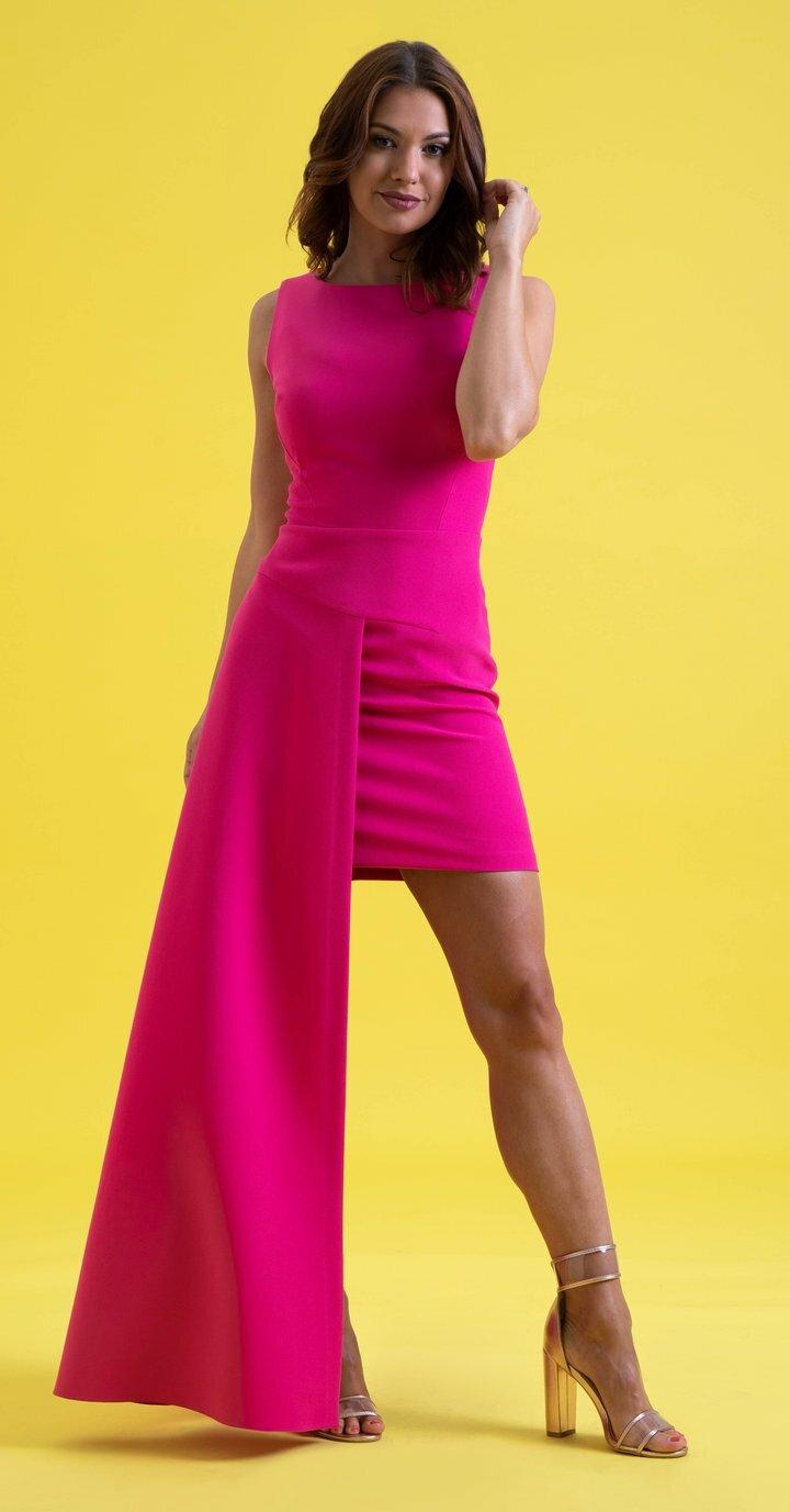 Livia Dress in Fuchsia 00027