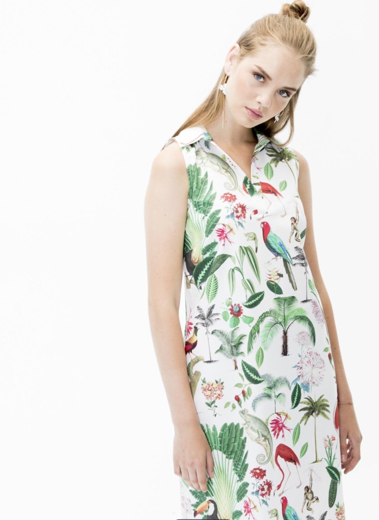 Cassie Shirt Dress with Jungle Print VILLAGALLOCASSIE