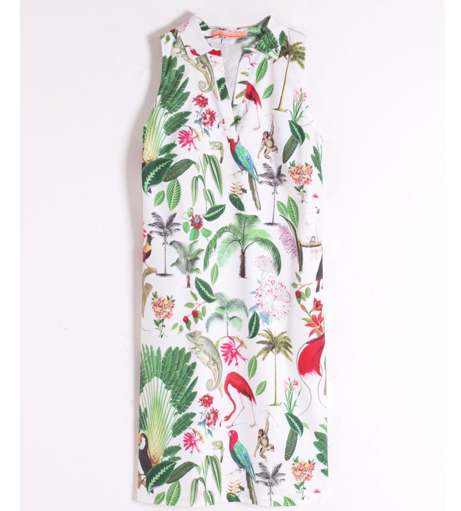 Cassie Shirt Dress with Jungle Print
