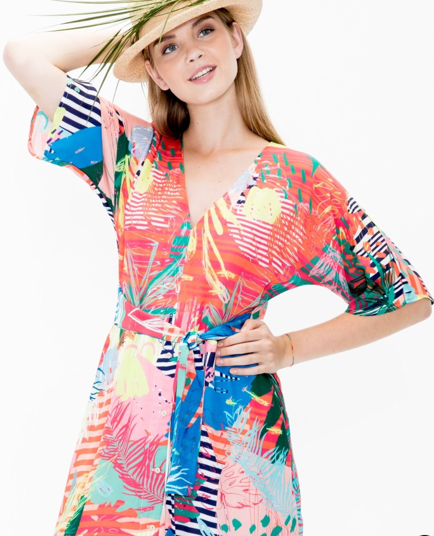 Sabrina Dress in Multi coloured Print VilaGalloSabrina