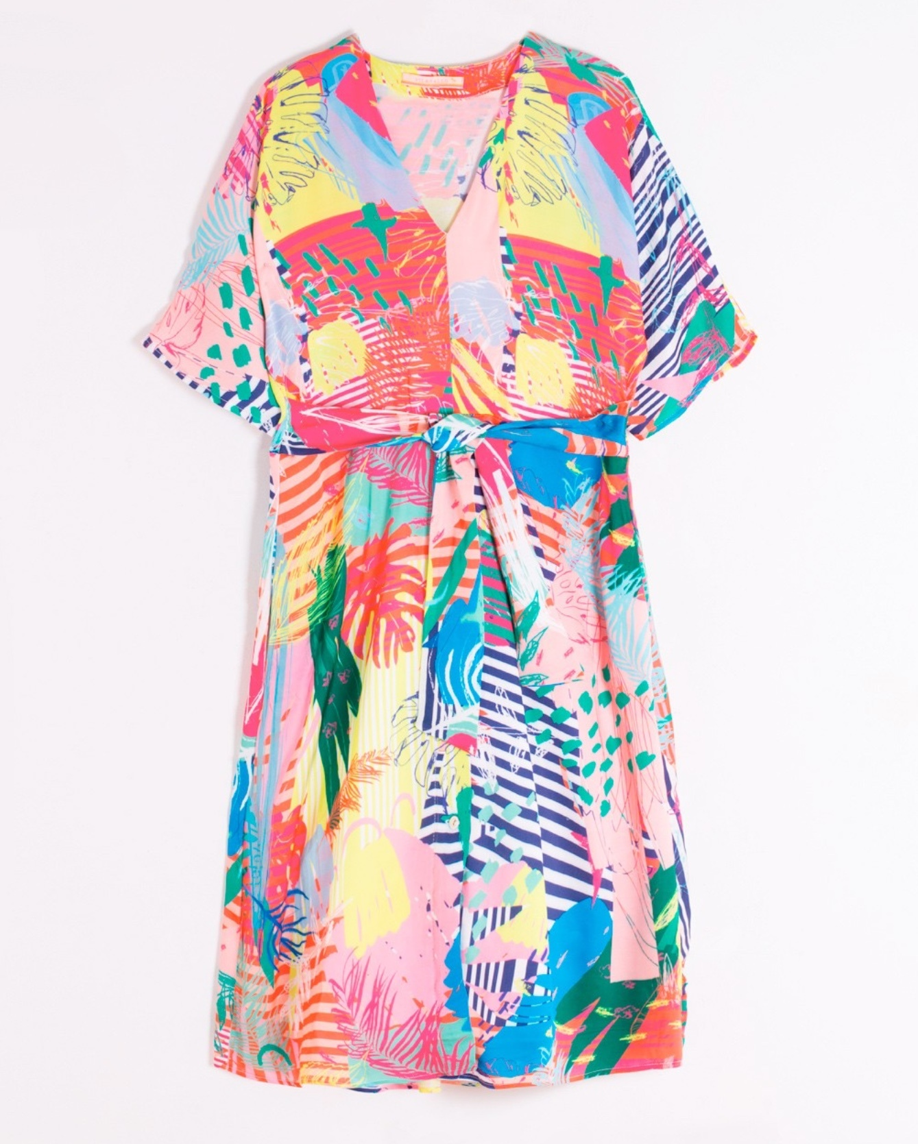 Sabrina Dress in Multi coloured Print