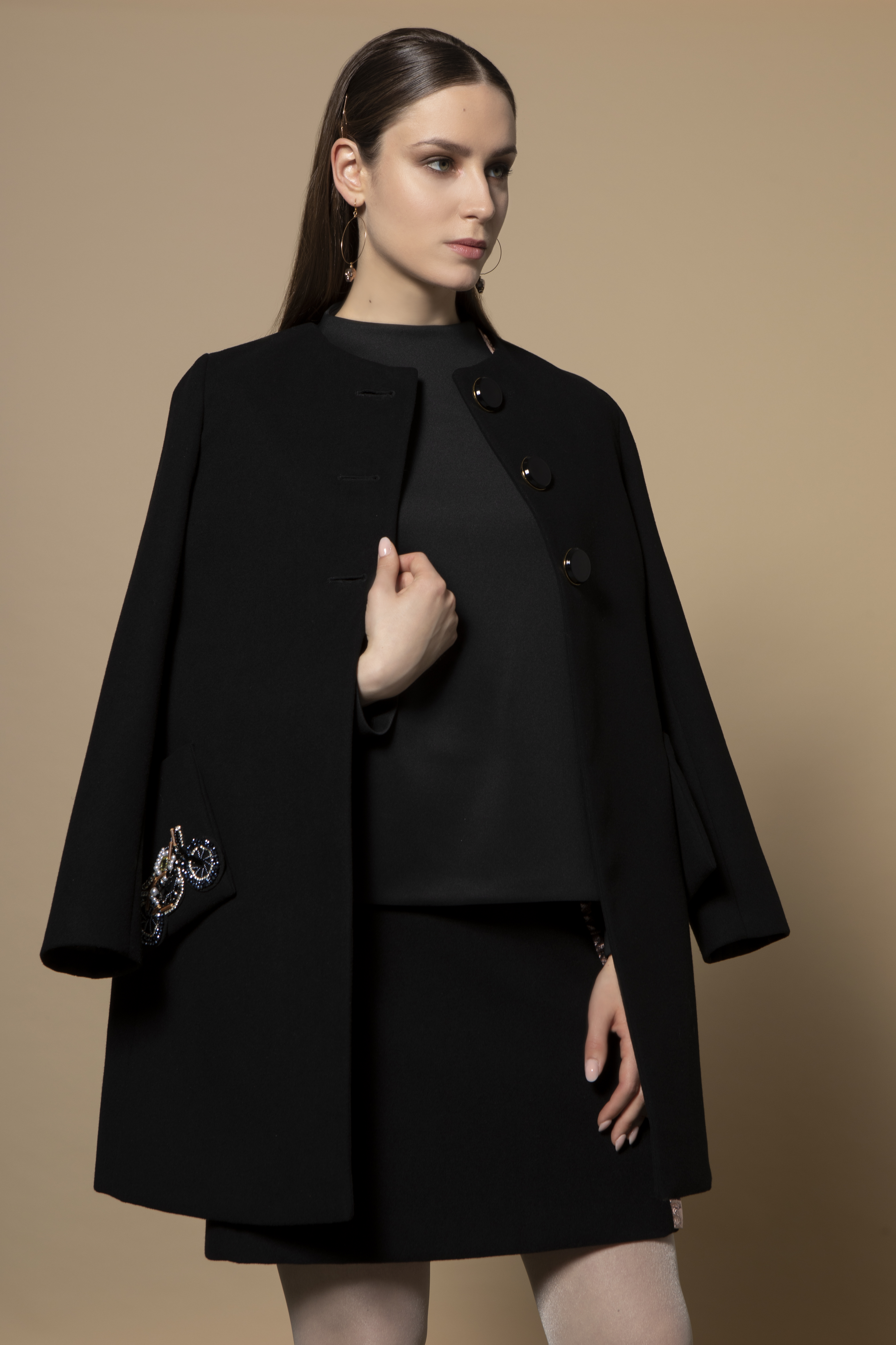 Alexa Coat in Black CKSISALEXABLACK