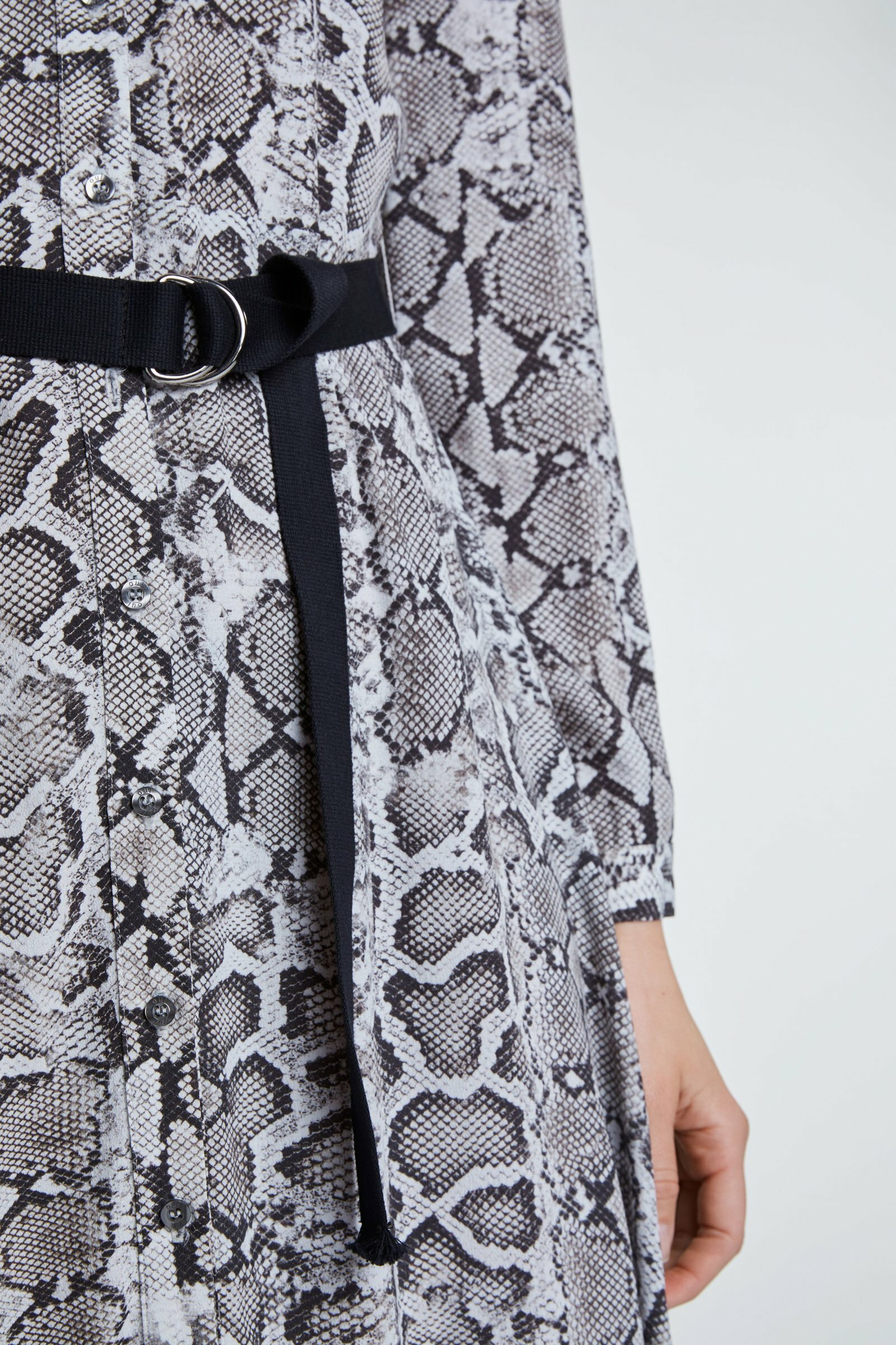 Snake Skin Printed Shirt Dress