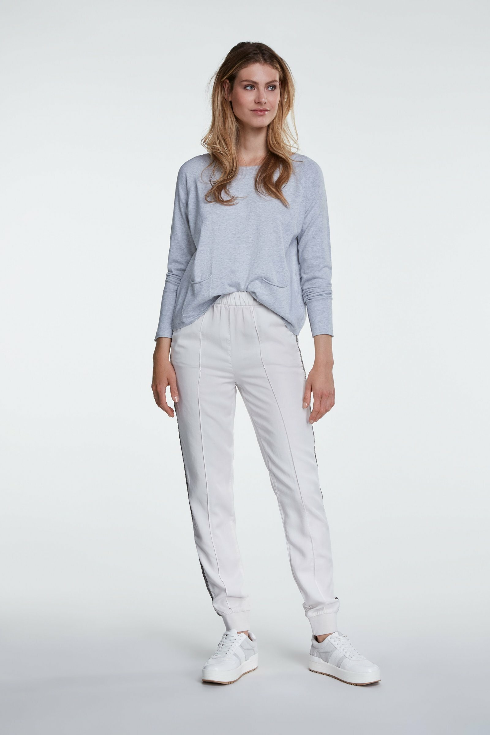 Lyocell Jogger With Glitter Stripe OUI66220