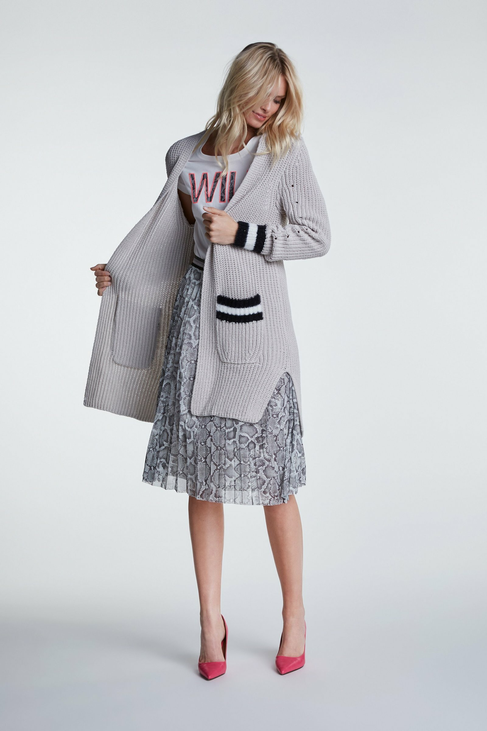 Sporty Long Soft Knit Coat