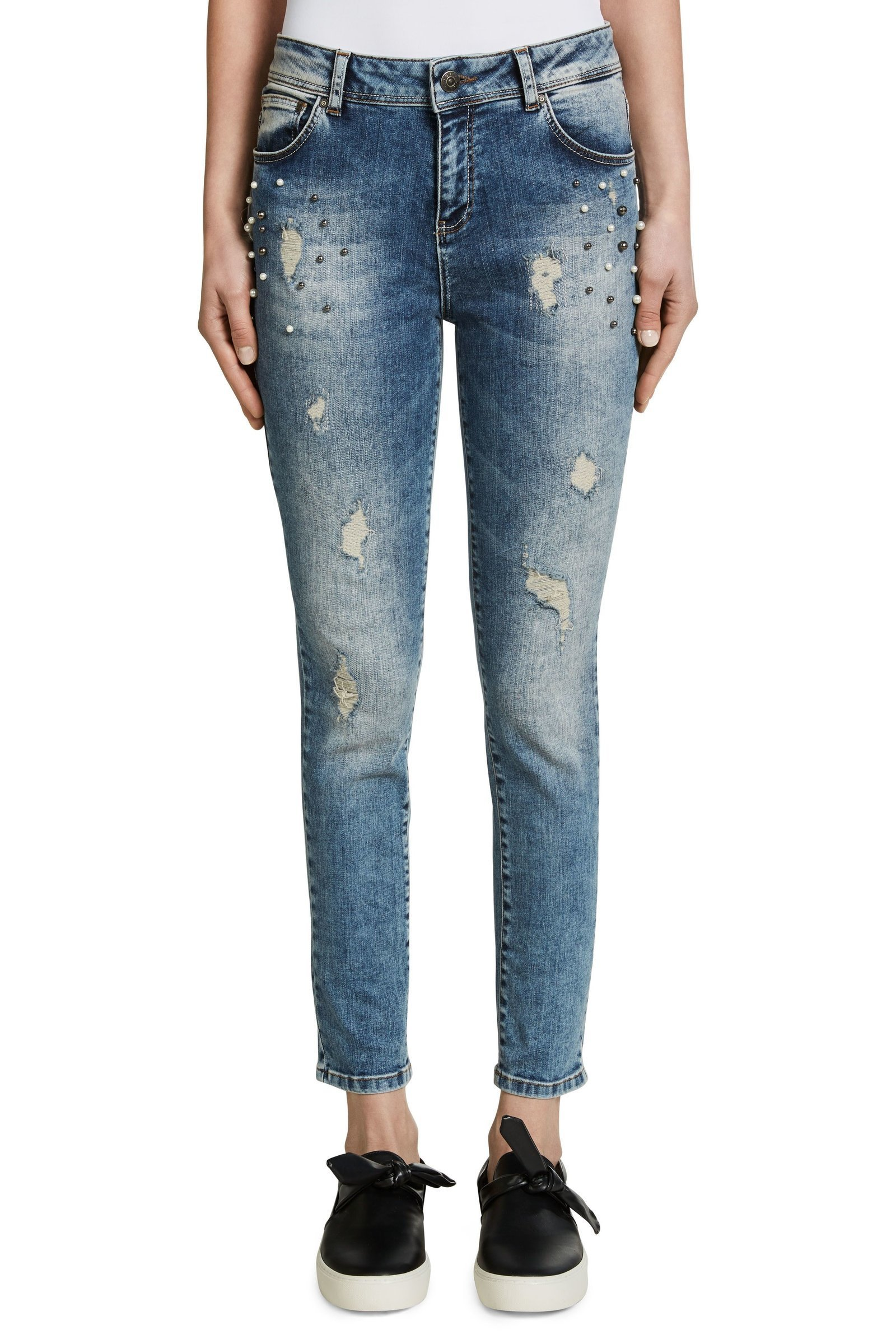 Embellished Denim Slim Fit Jeans