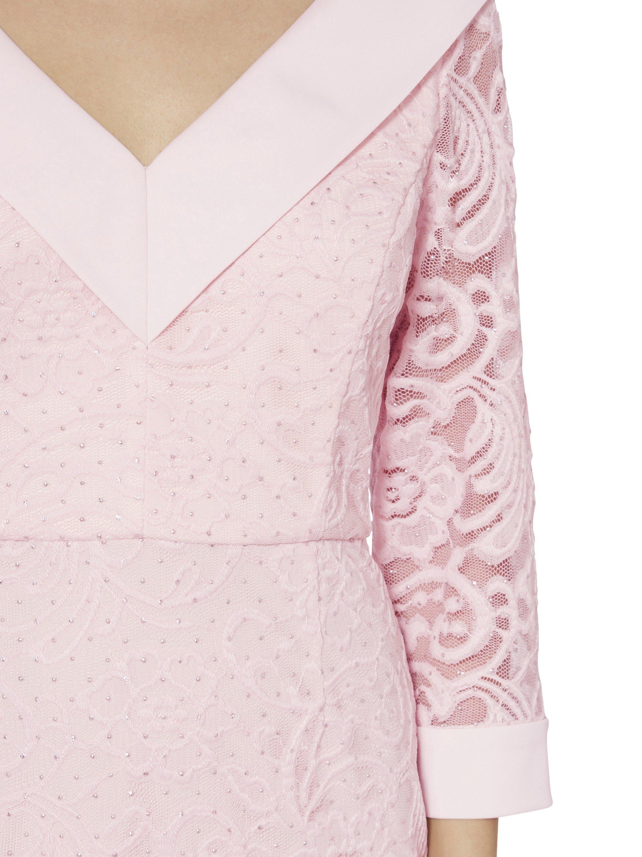 V Neck Pink Lace