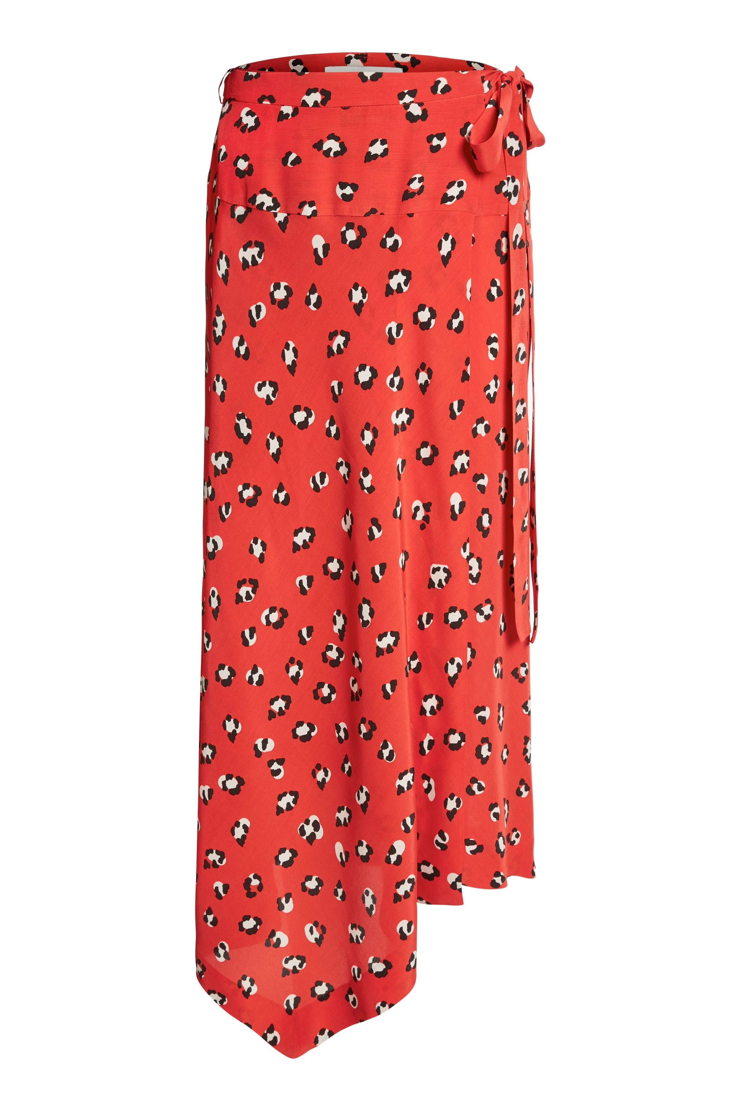 Printed Dipped Hem Skirt OUSK63589