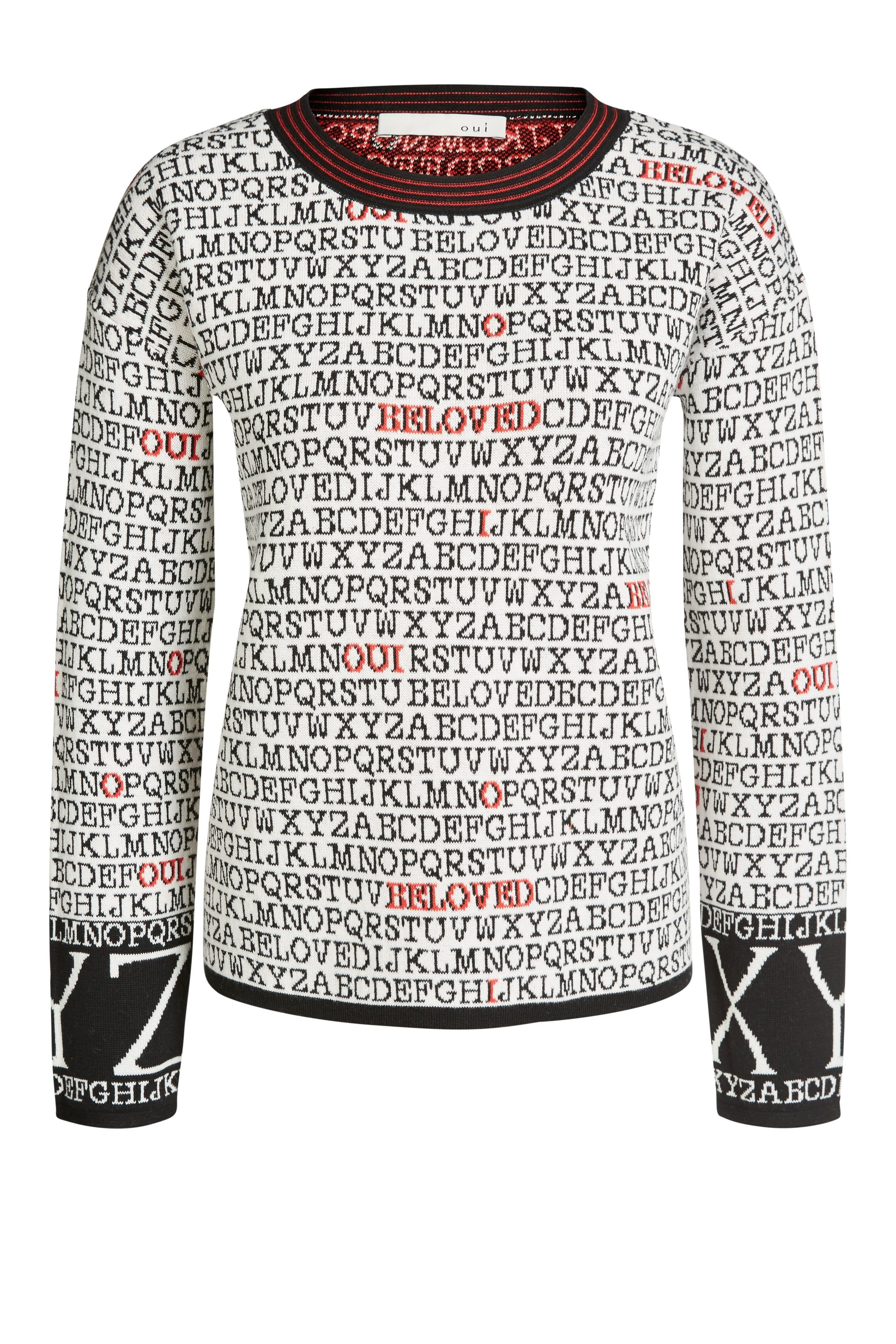 Alphabet Print Sweater OUTO63299