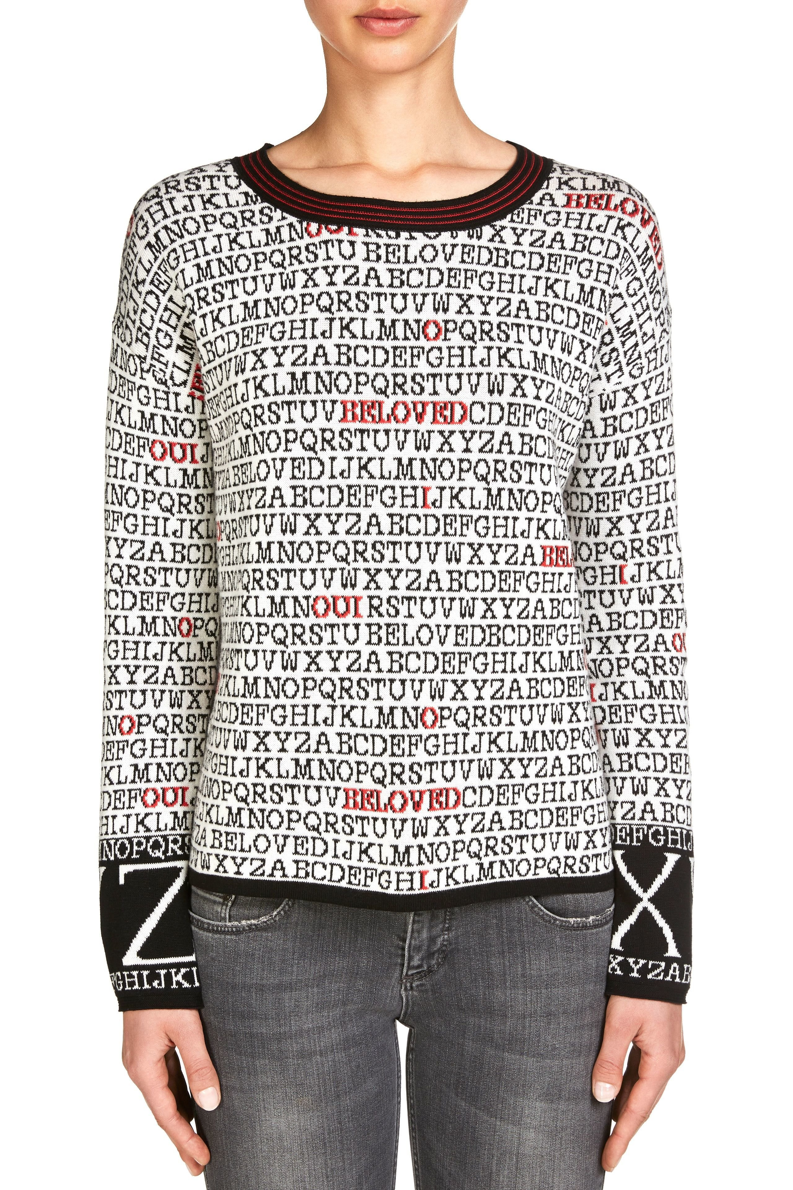 Alphabet Print Sweater