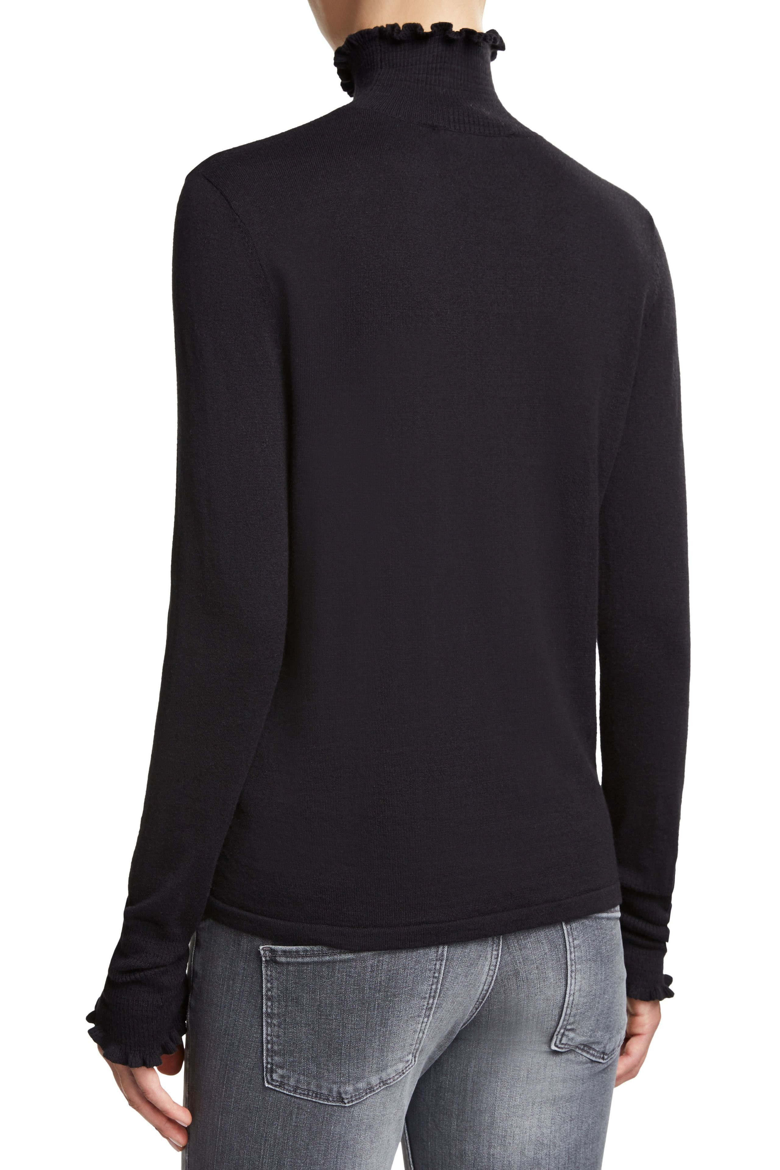 Poloneck with Frill Black