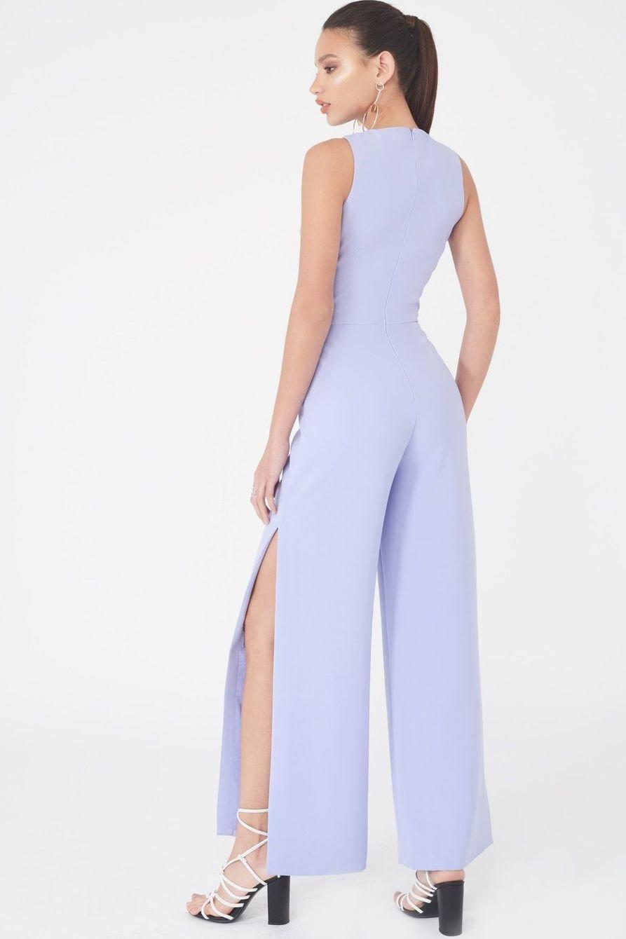 Wide Leg Jumpsuit Blue