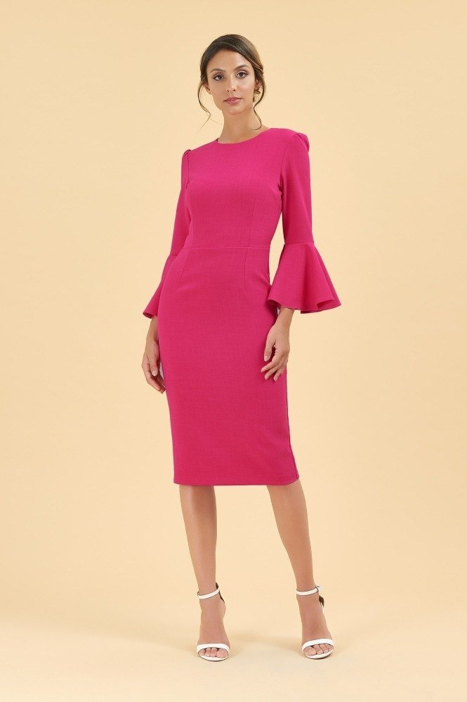 Gia Pencil Dress Raspberry