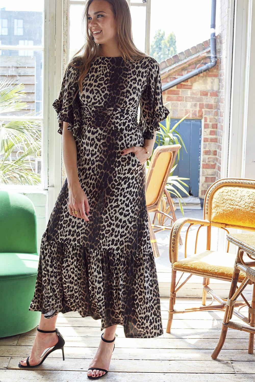 Gabriella Maxi in Leopard Print 00009