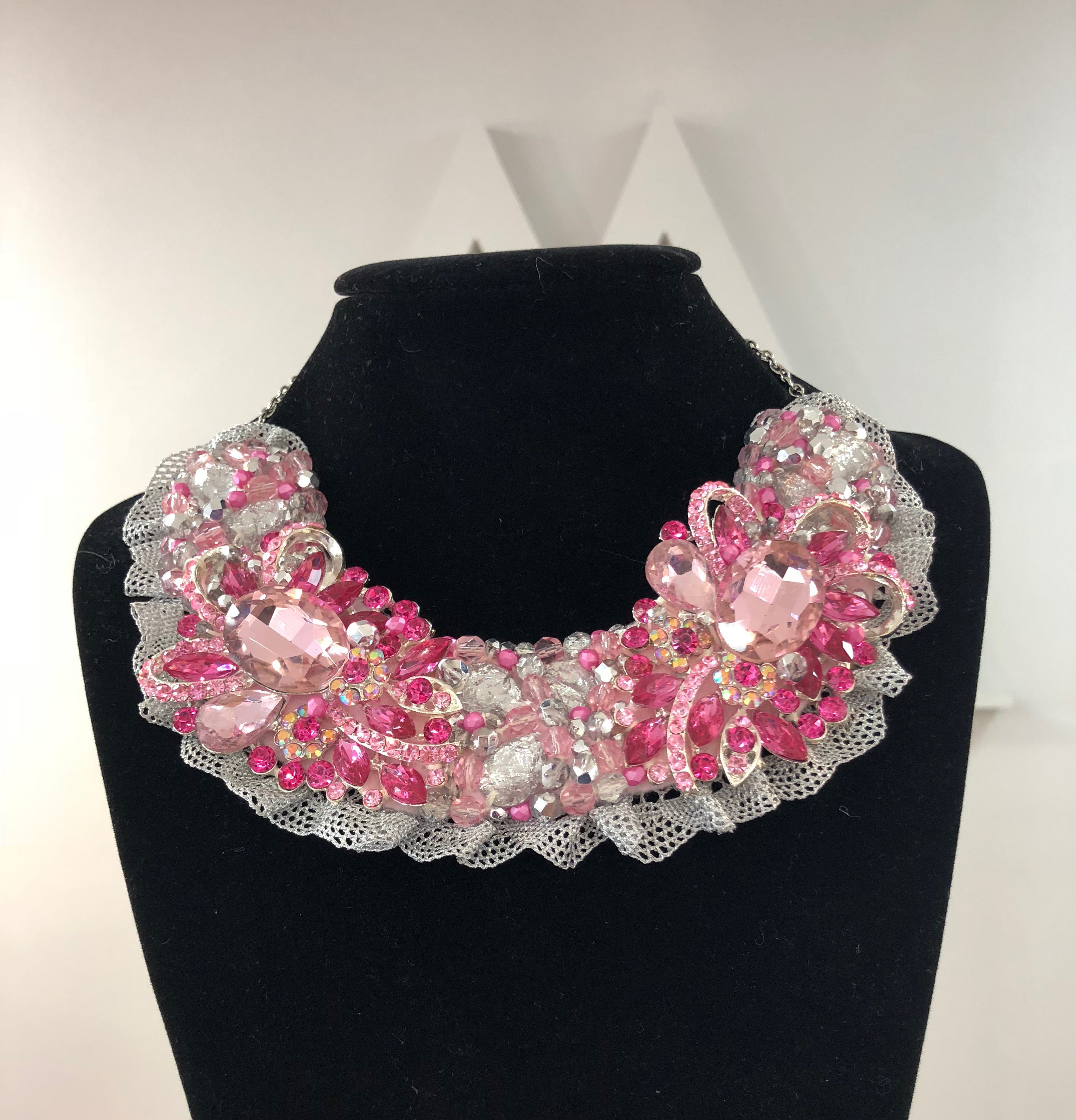Aisling Maher Collar palepink/cerise/pearl/silver 28QRWRVW80JW8