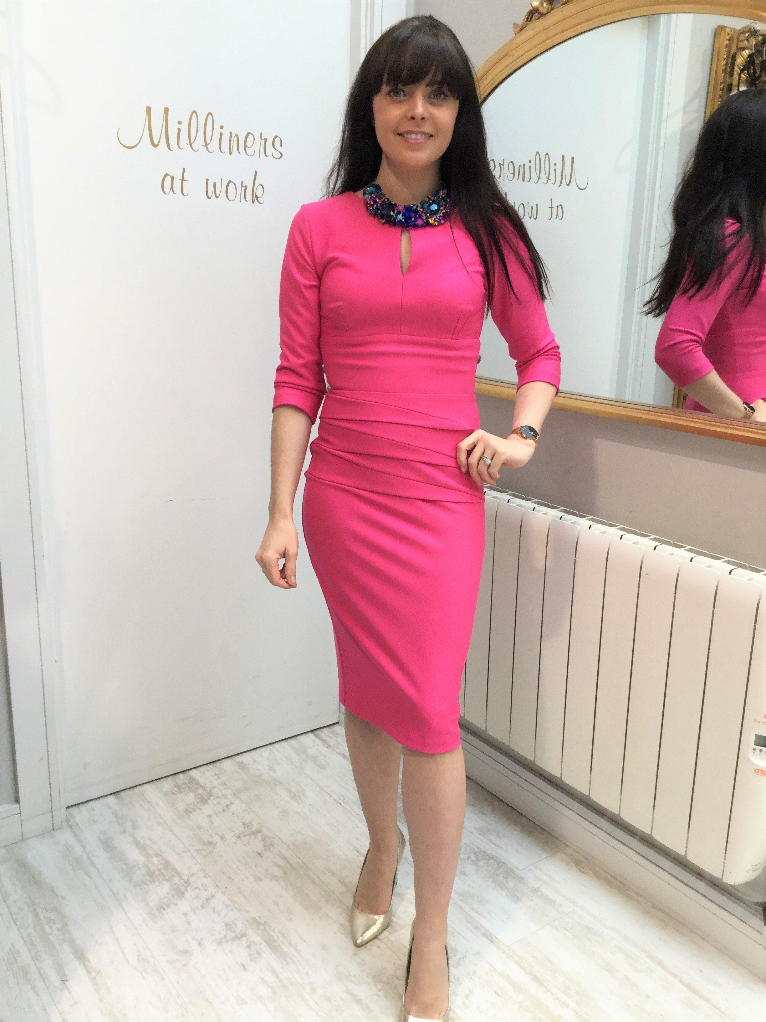 Daphne Dress Hibiscus Pink DIDRDAPHNEPINK