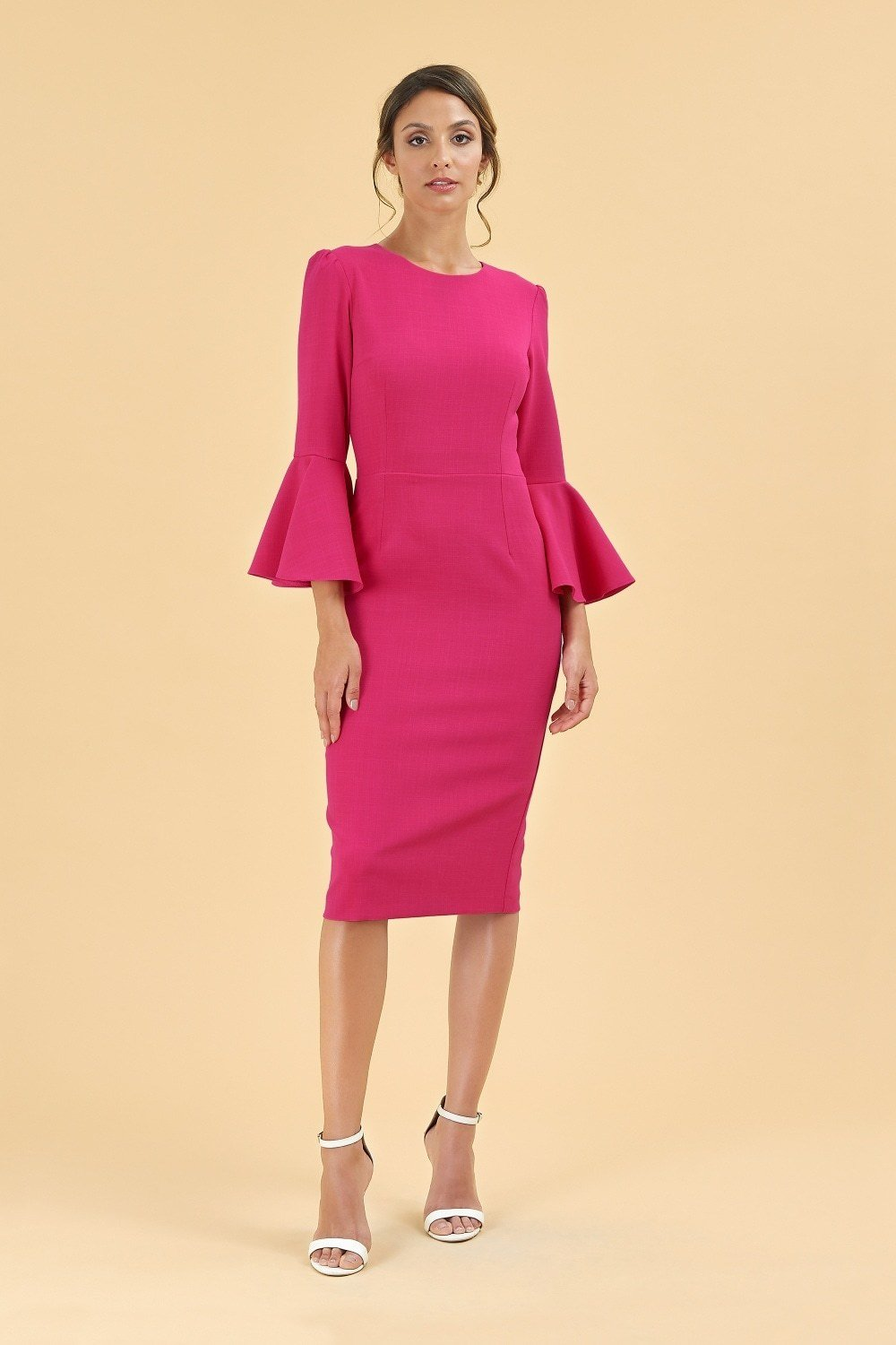 Gia Pencil Dress Raspberry PDCDRGIA