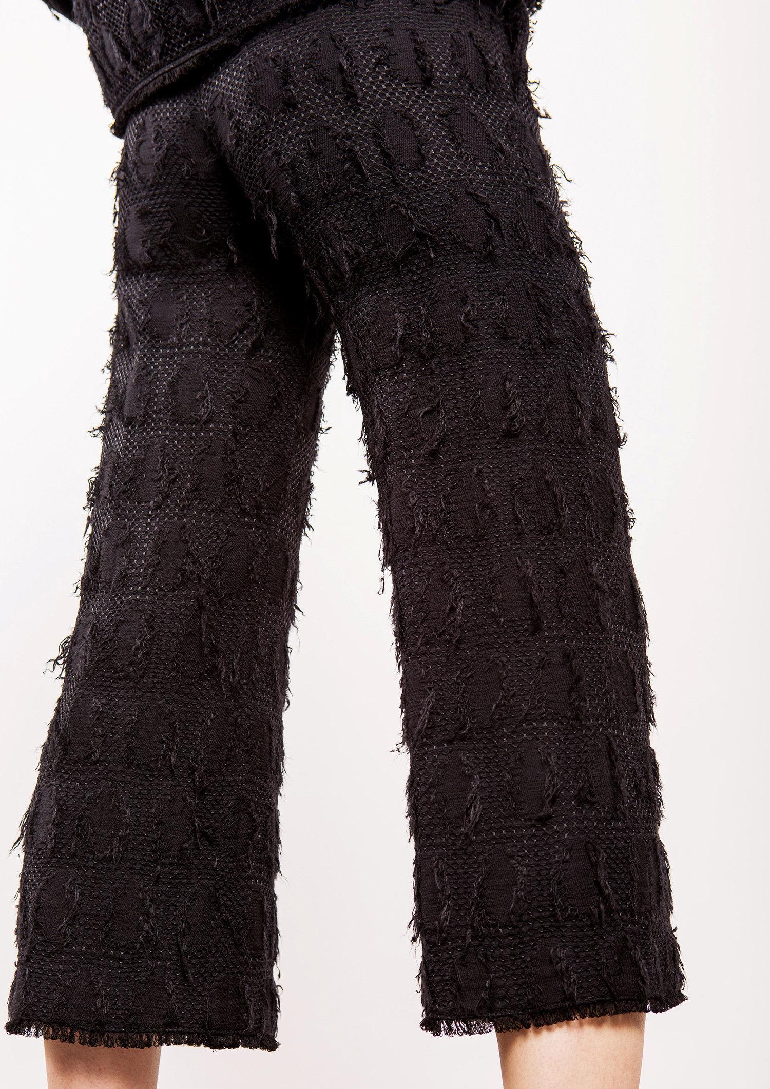 Black Textured Trouser