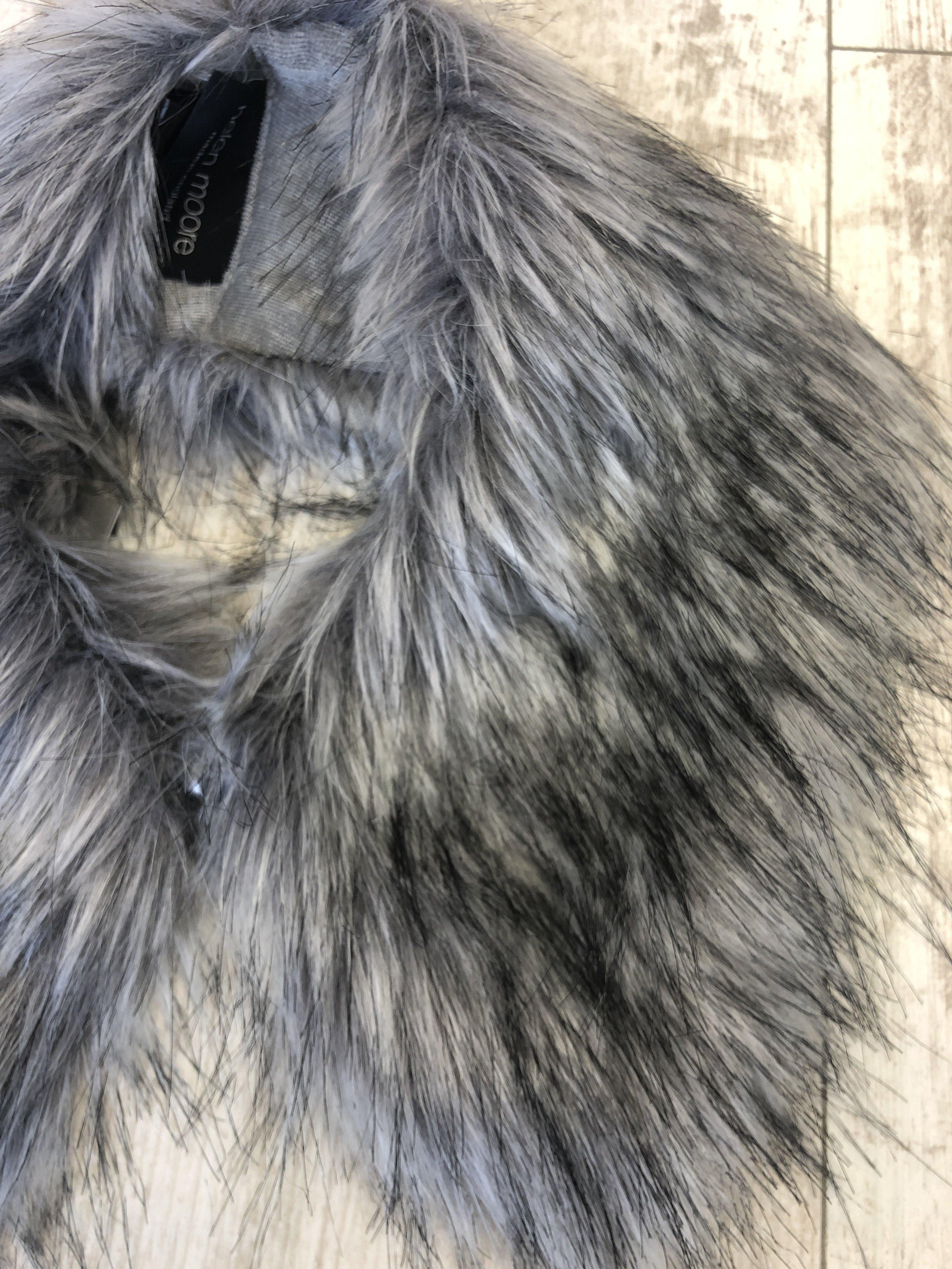 Helen Moore Shirt Collar Fur silver