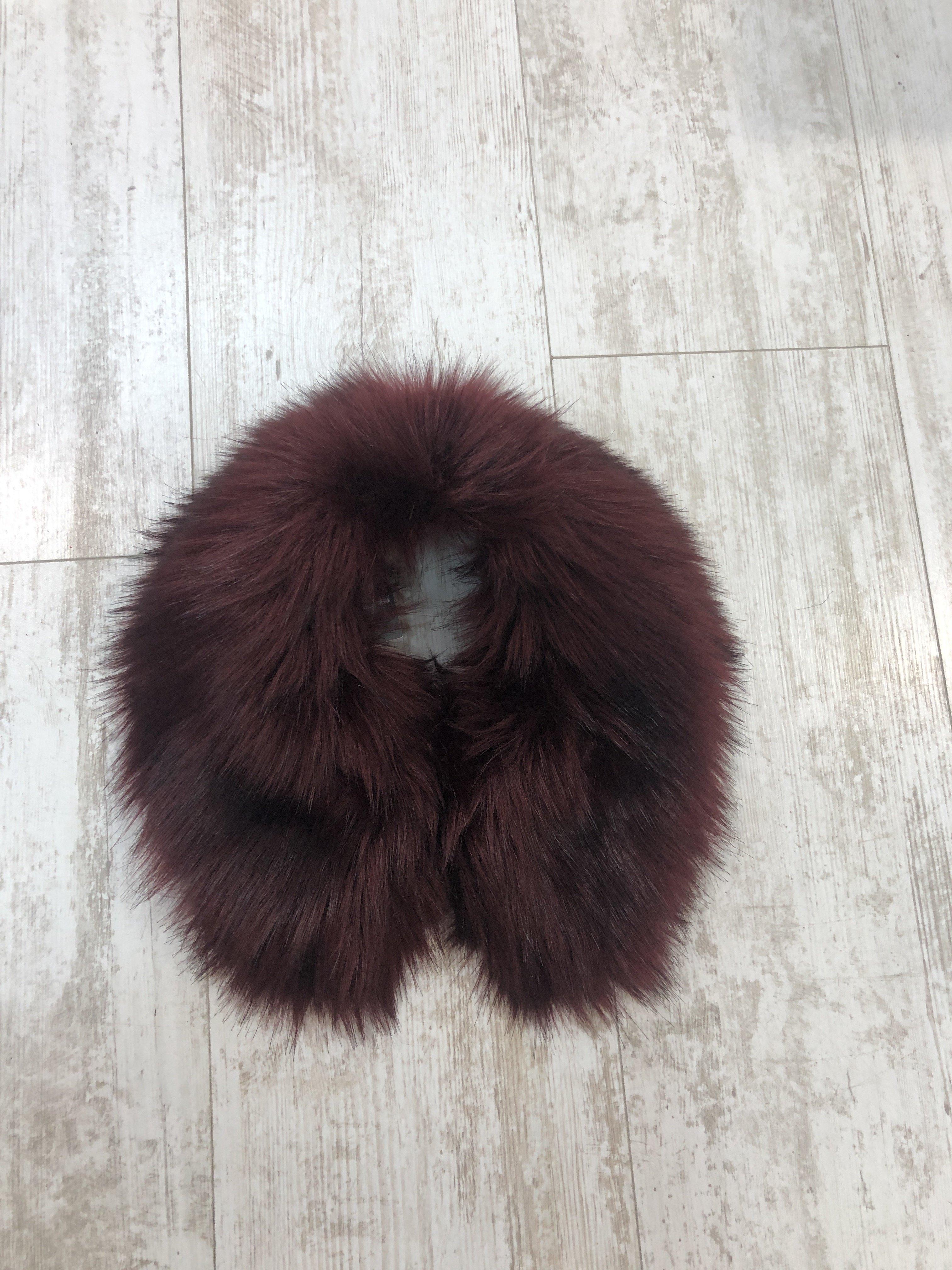 Helen Moore Shirt Collar Fur burgundy 17P9Q8M3690EM