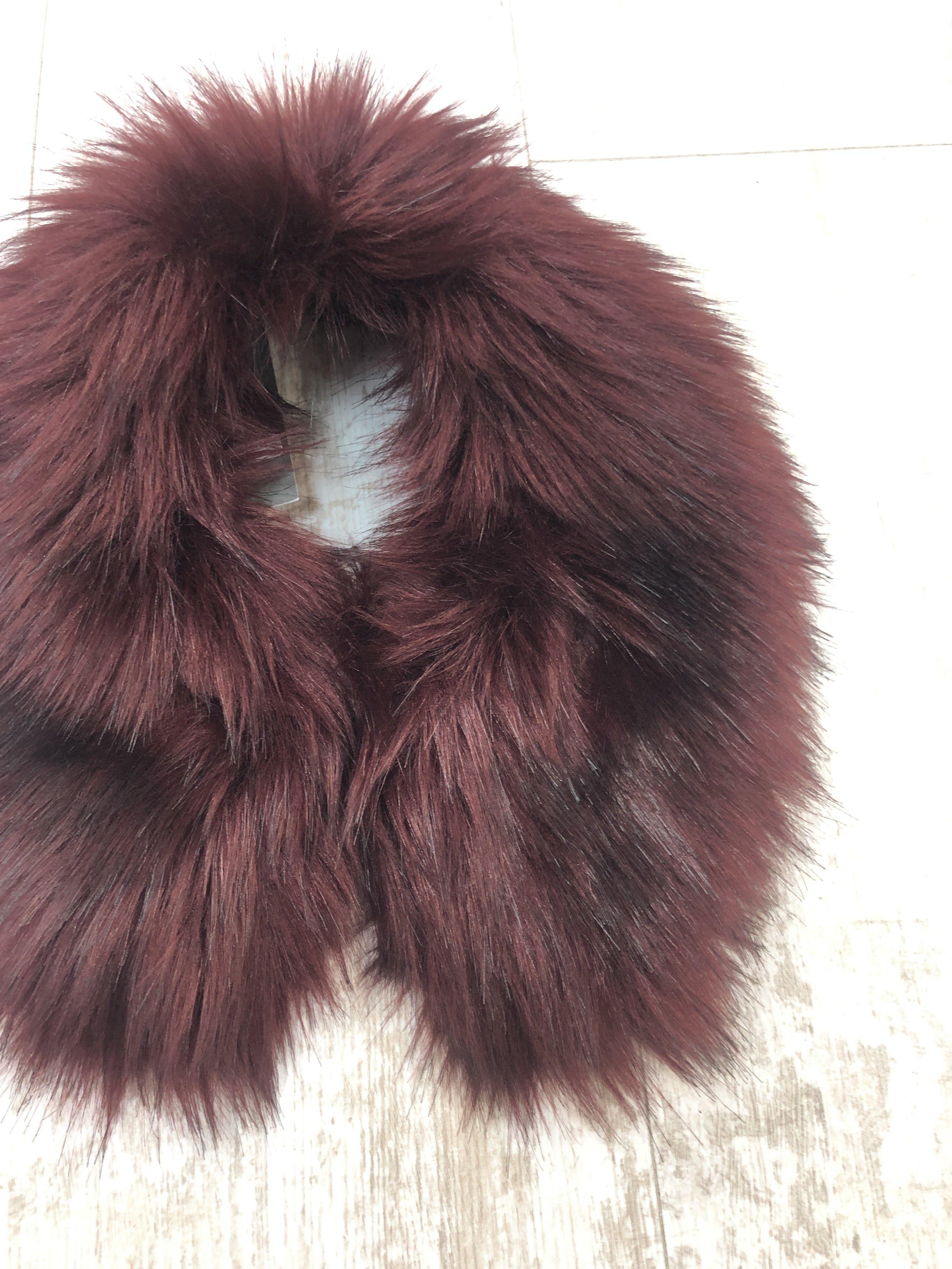 Helen Moore Shirt Collar Fur burgundy