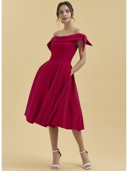 Tilly Swing Dress in Red
