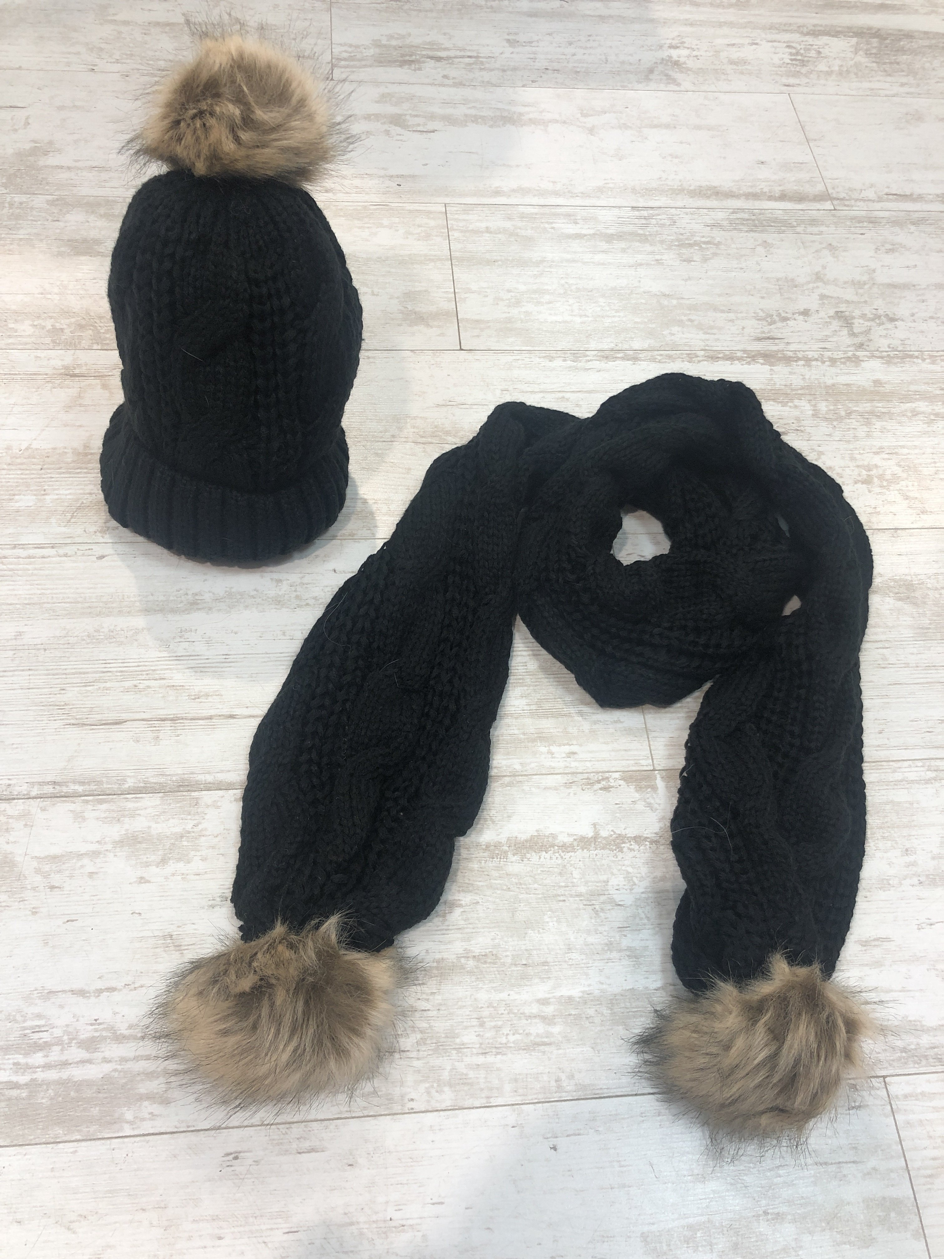 Hat And Scarf Set black DC80ZEMN2TQDE