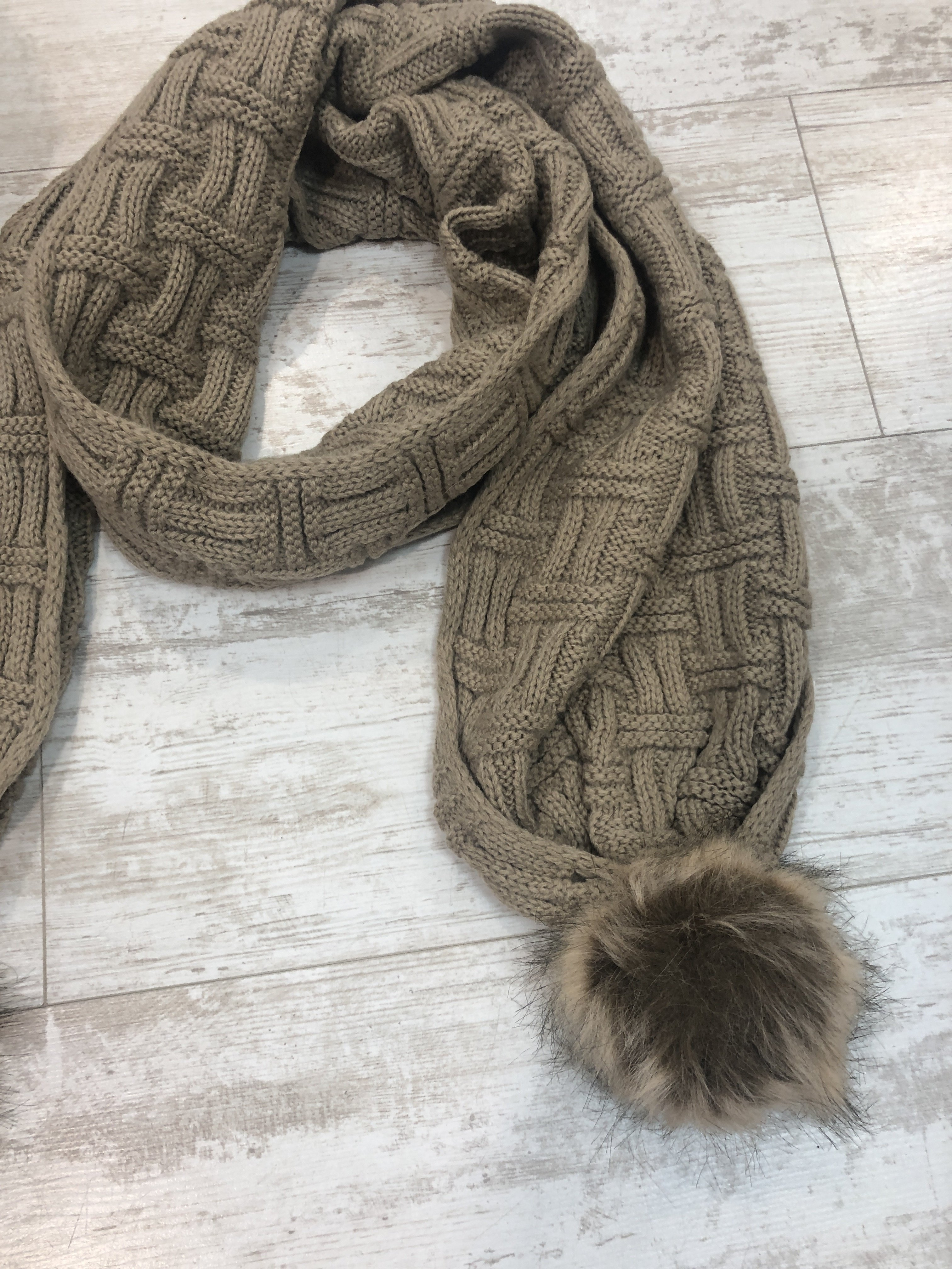 Hat And Scarf Set camel