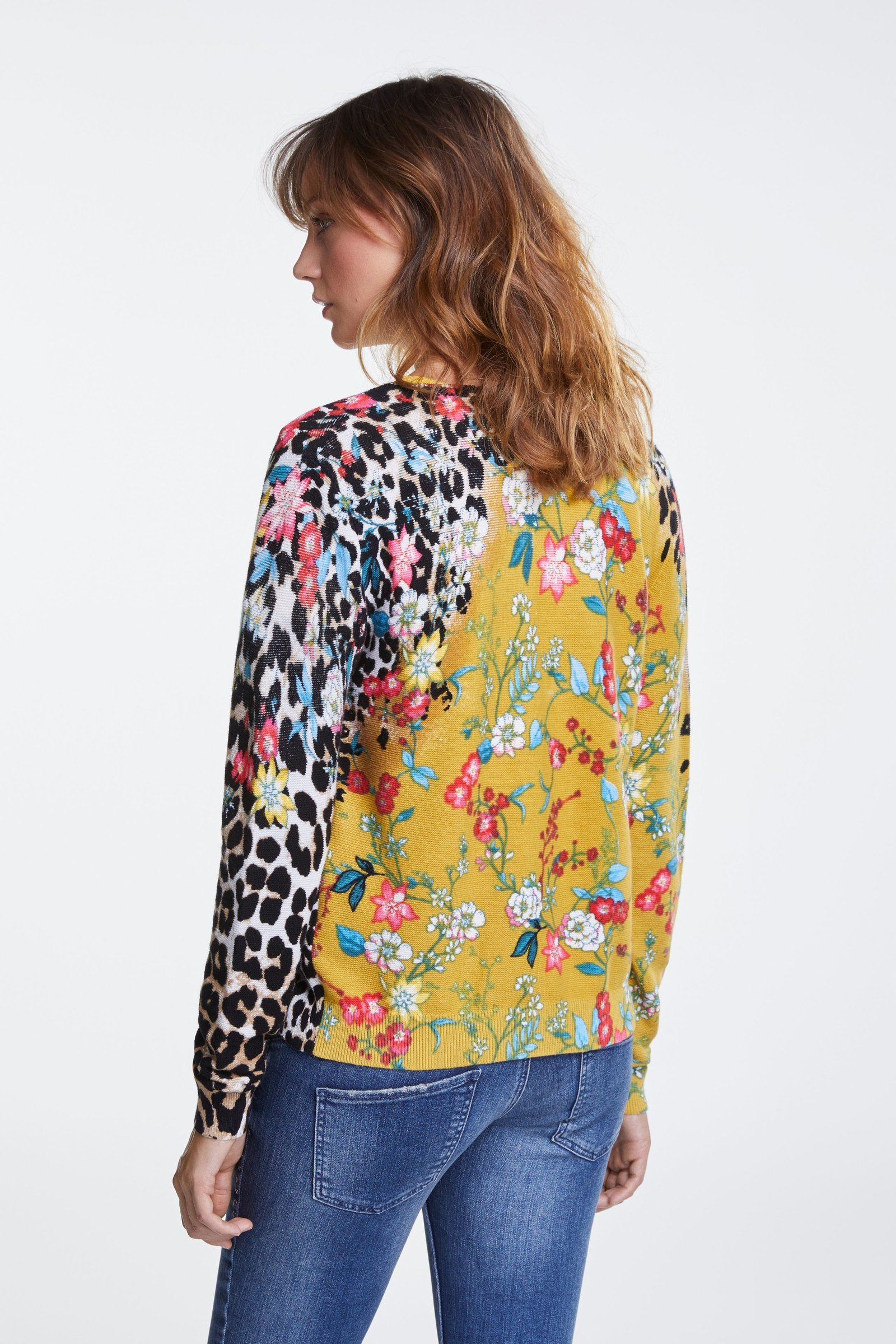 Colourful Printed Cardigan