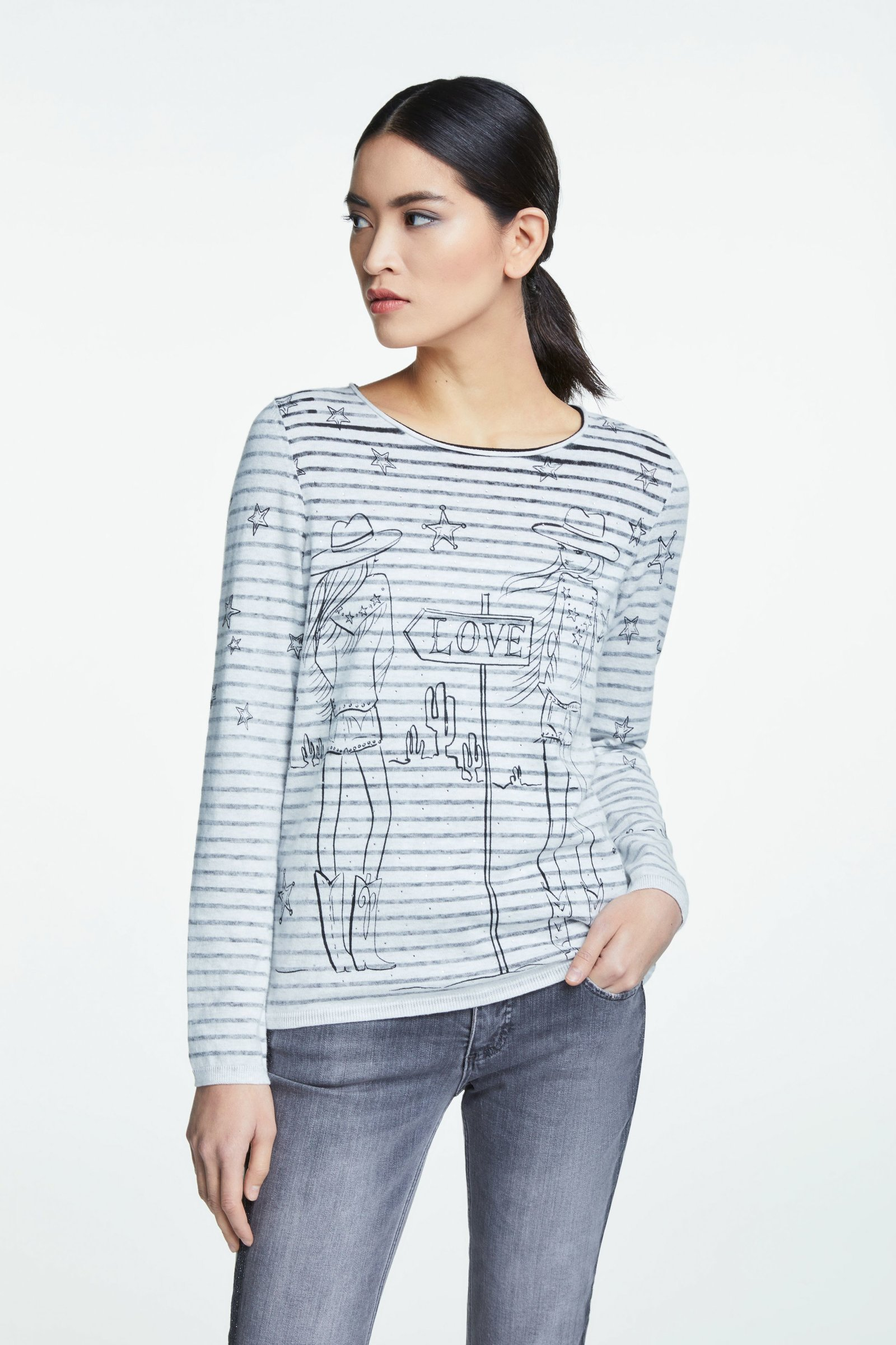 Lola Sweater with Western Theme