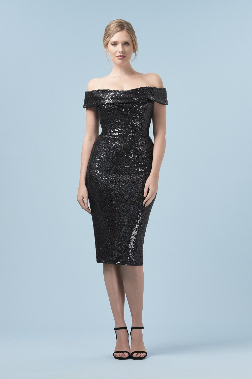 Thea Sequin Pencil Dress PDCDRBKSEQ