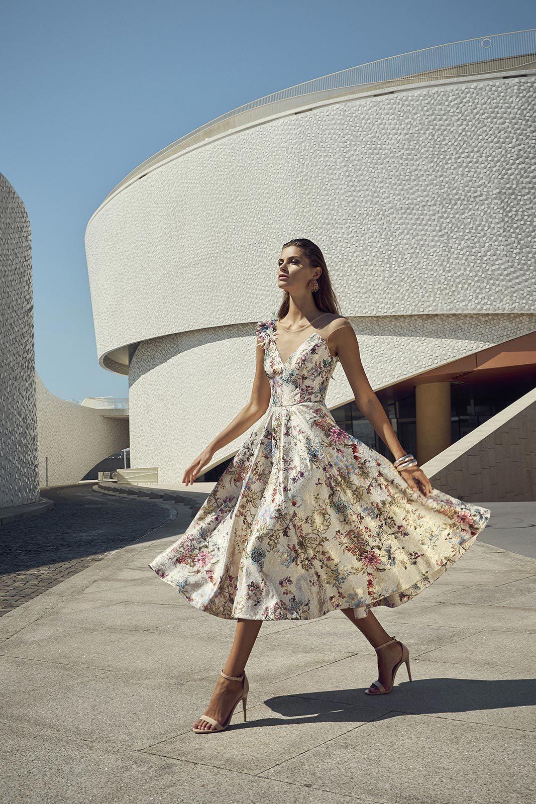 Floral Dress with Full Skirt CRDRFLOR