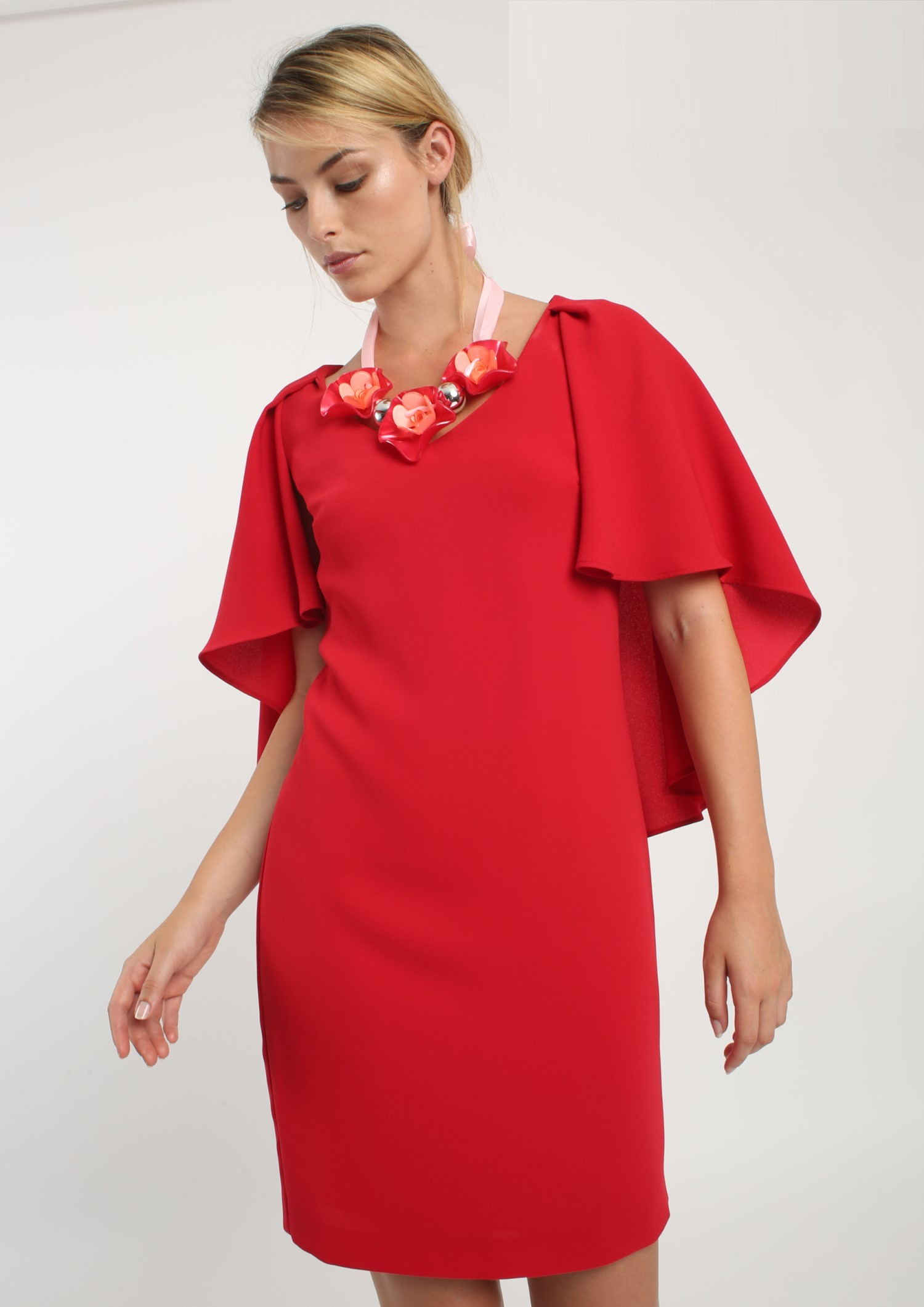 Cape Shift Dress ACDR3482