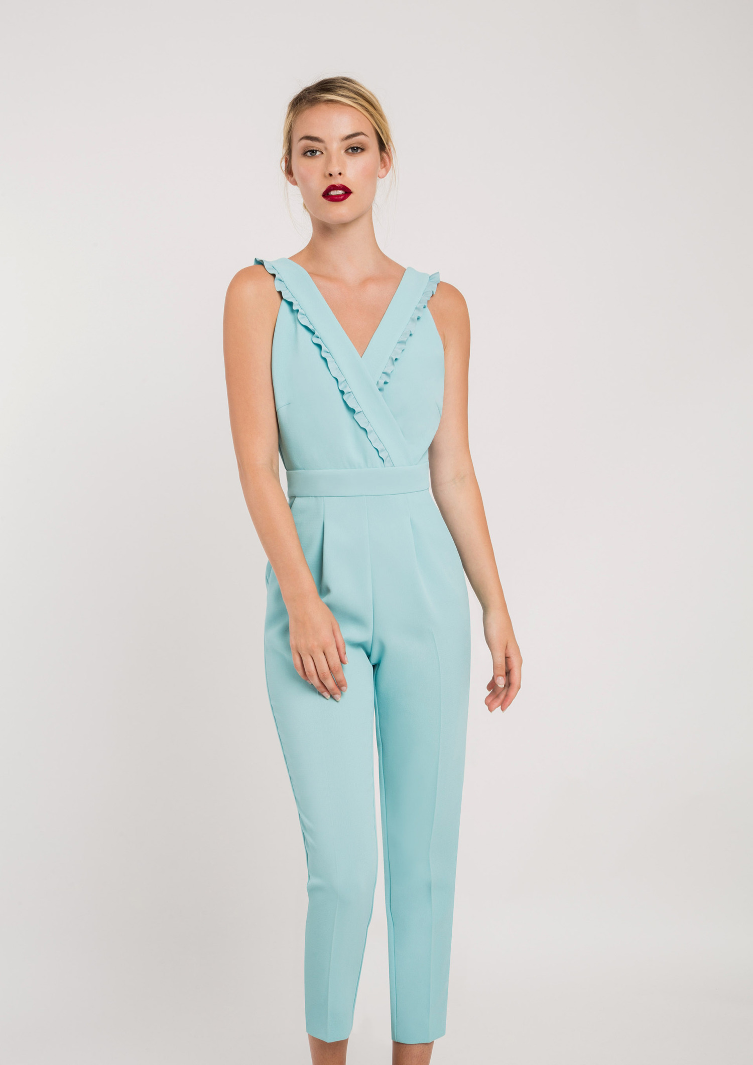 Jumpsuit with Frill and Bows Mint ACJU3453