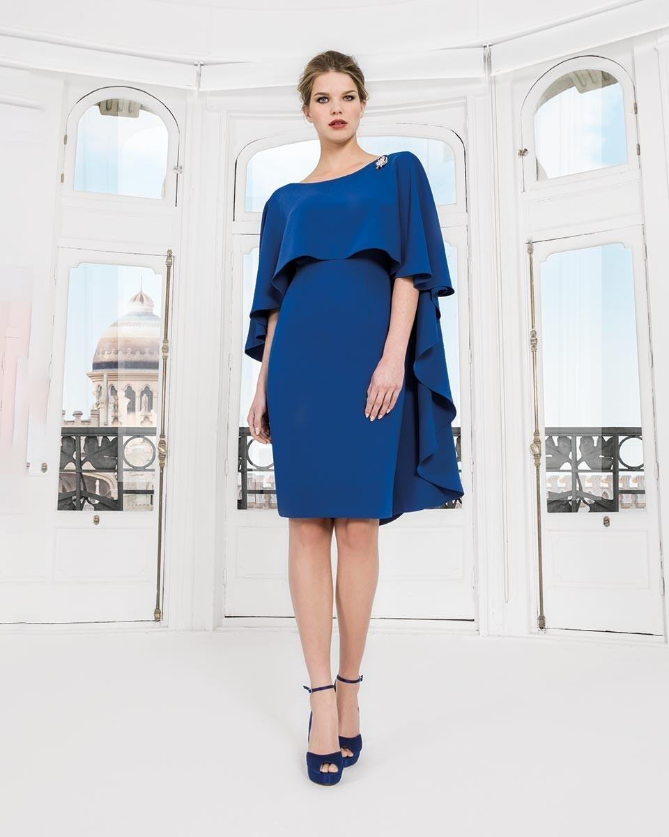 Royal Blue Dress with Cape Detail SPDRRBLU