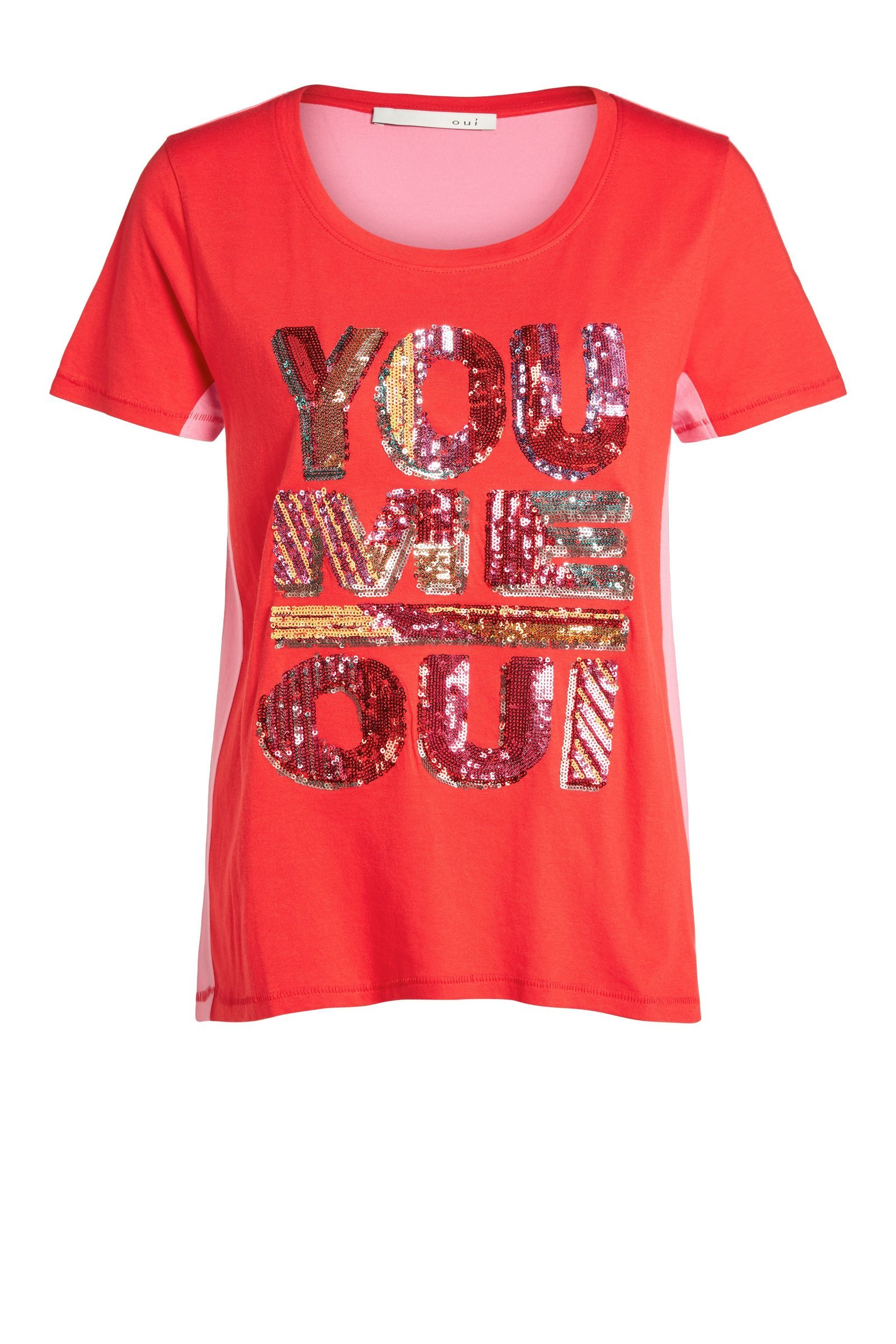Tshirt with Sequin Logo
