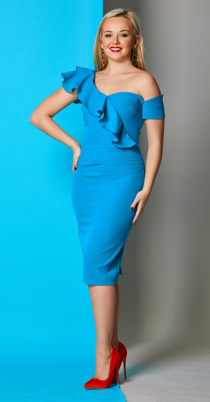 Calypso Dress in Beautifully Rich Turquoise Colour MELDRCALTUR