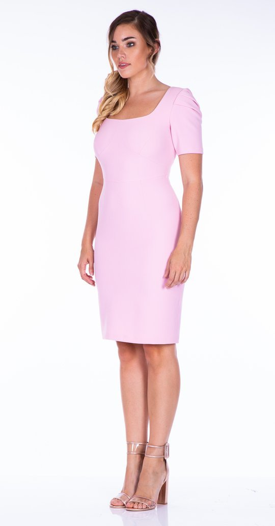 Marina Dress with Scoop Neck and 3/4 Sleeve