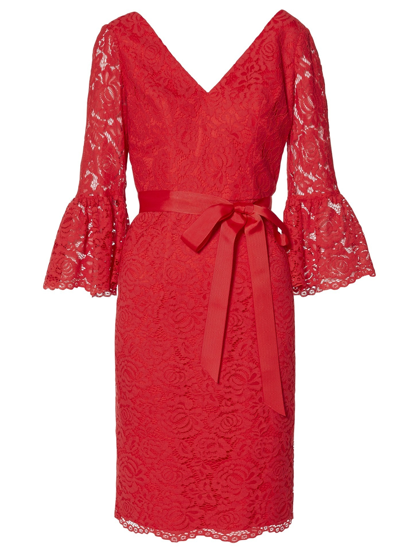 Lace Dress Red Detail